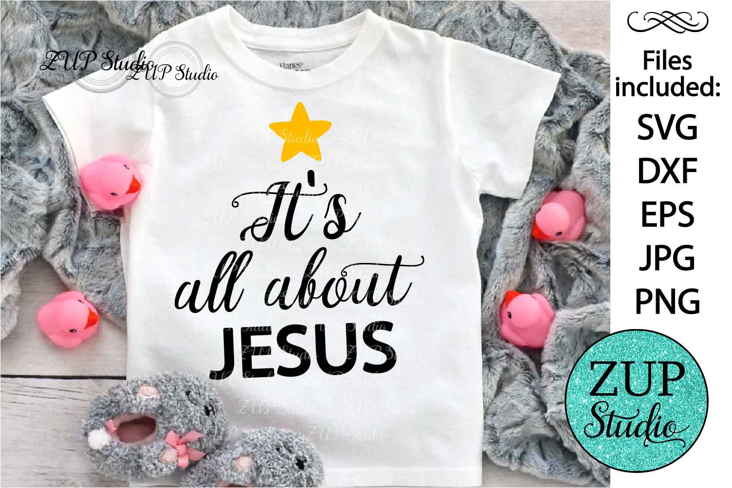 Christmas is about Jesus Digital Cutting files file 118 example image 1