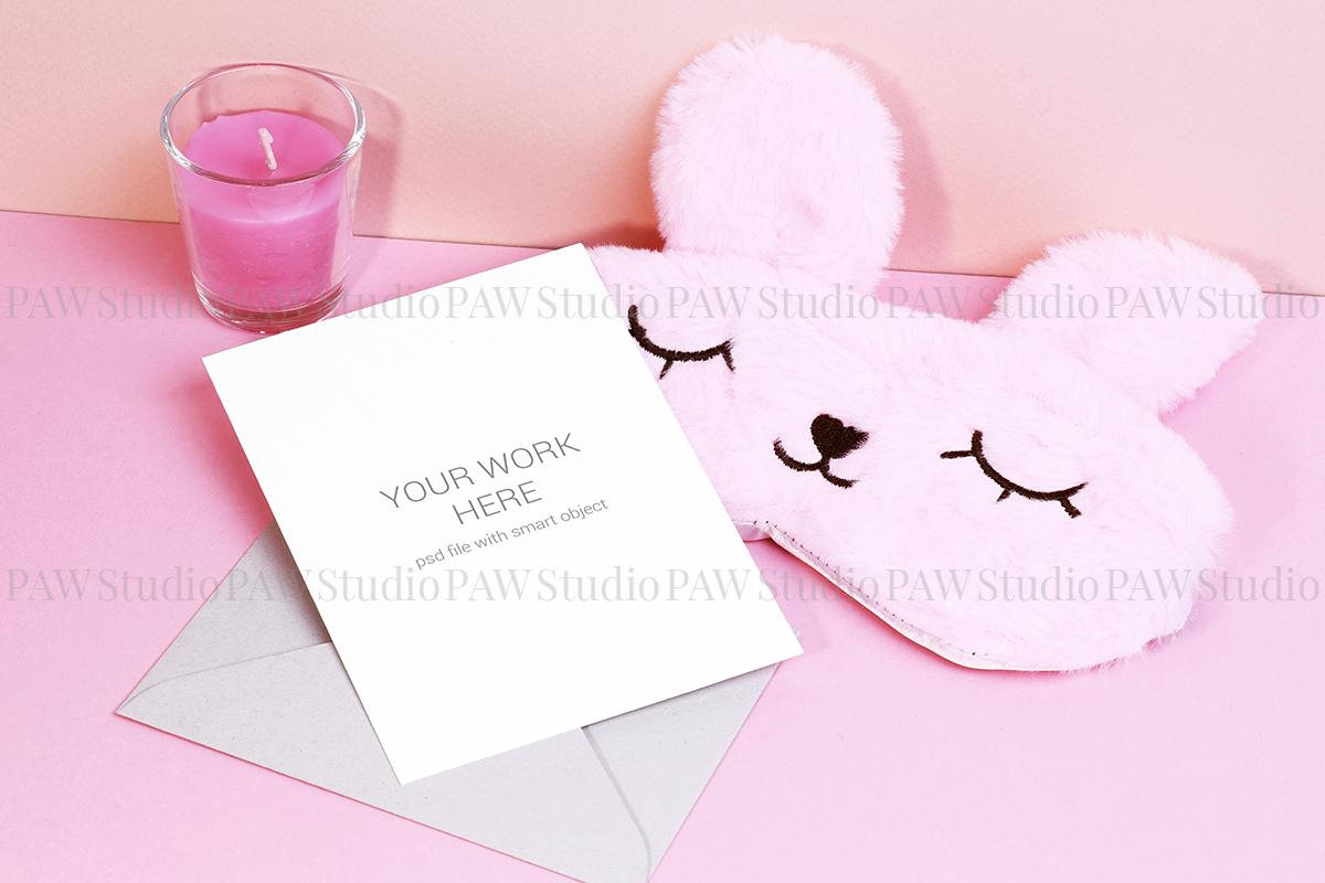 Card mockup with sleeping mask & FREE BONUS example image 2