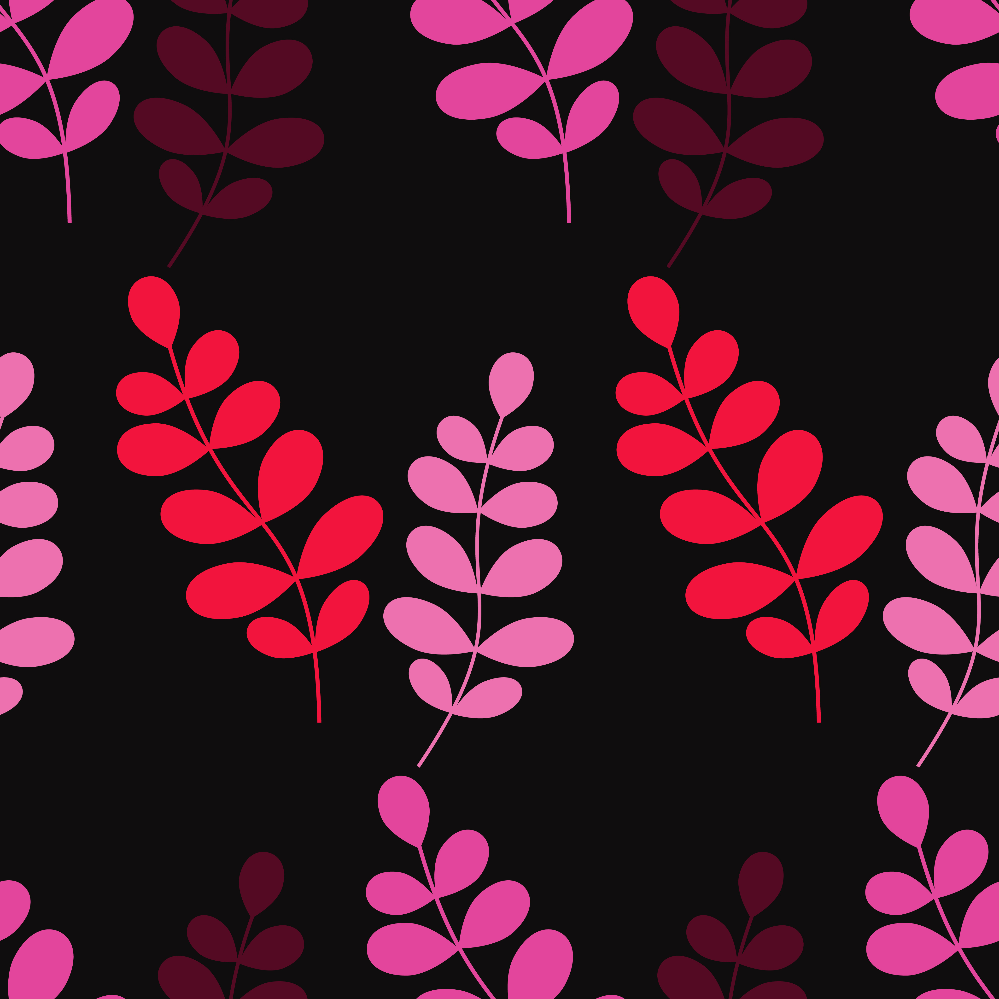 Seamless vector background with decorative branche and leaves. Pattern with plants. example image 5
