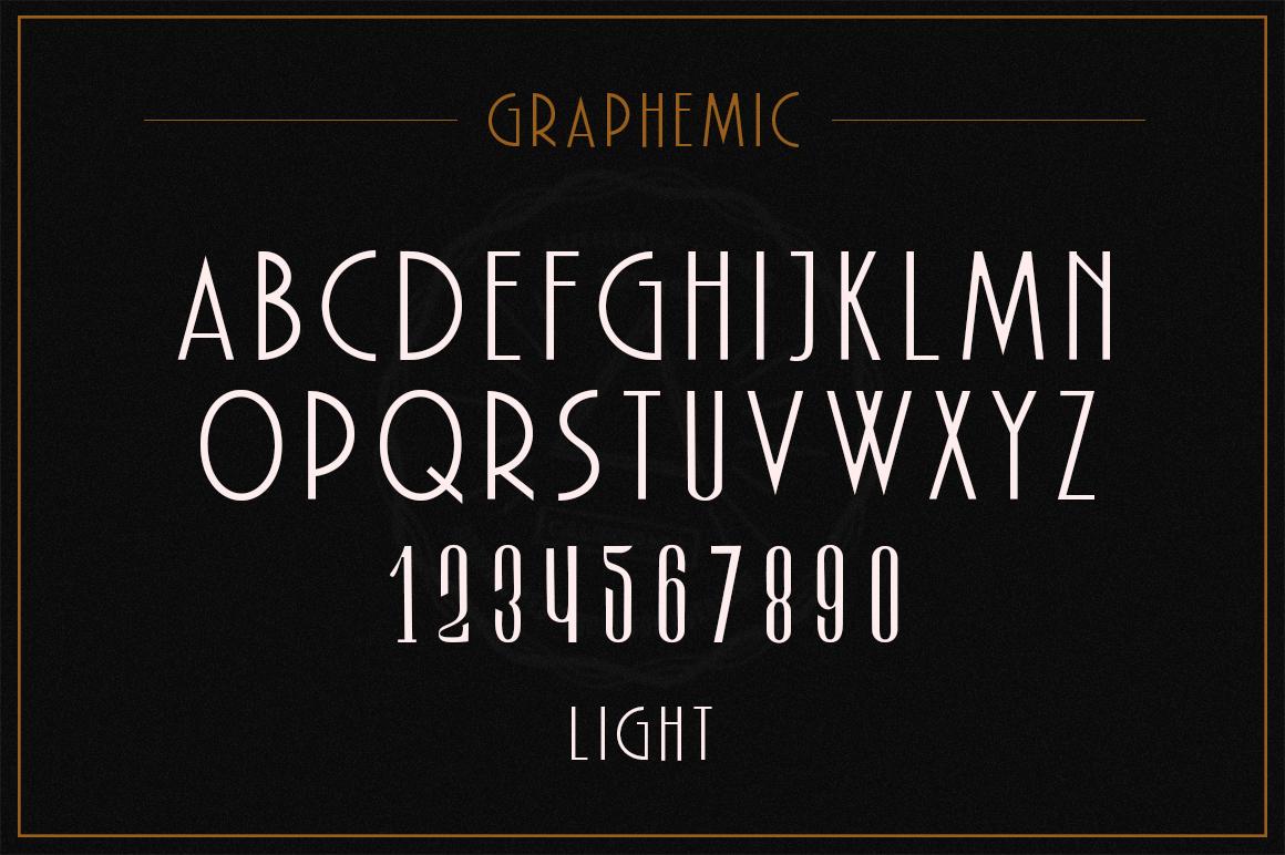 Graphemic | Deco Condensed Sans example image 9