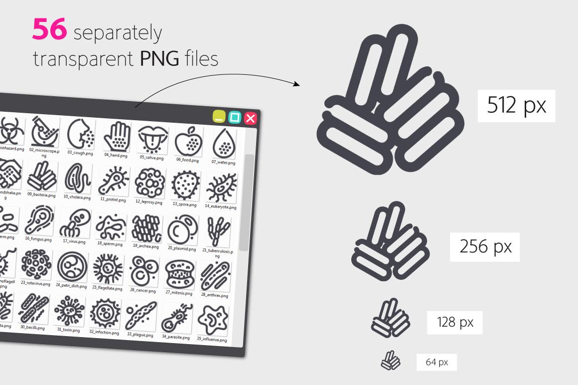 Virus Line Icons Set example image 3