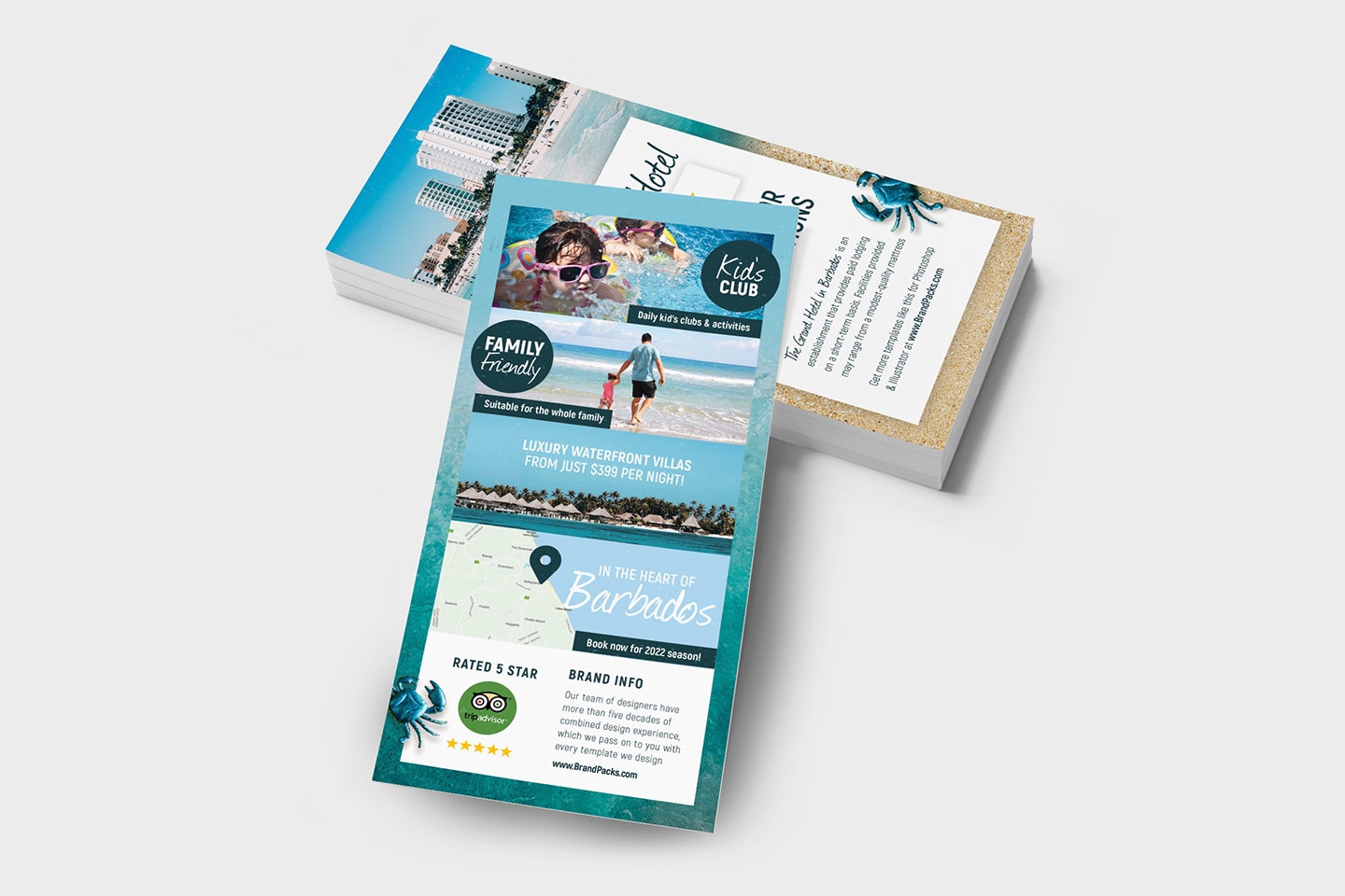 Travel Hotel Rack Card Template example image 4