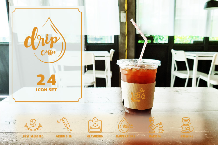 24 DRIP COFFEE ICON example image 1