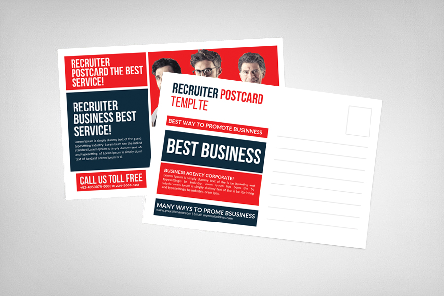 Recruiter Postcard Template example image 2