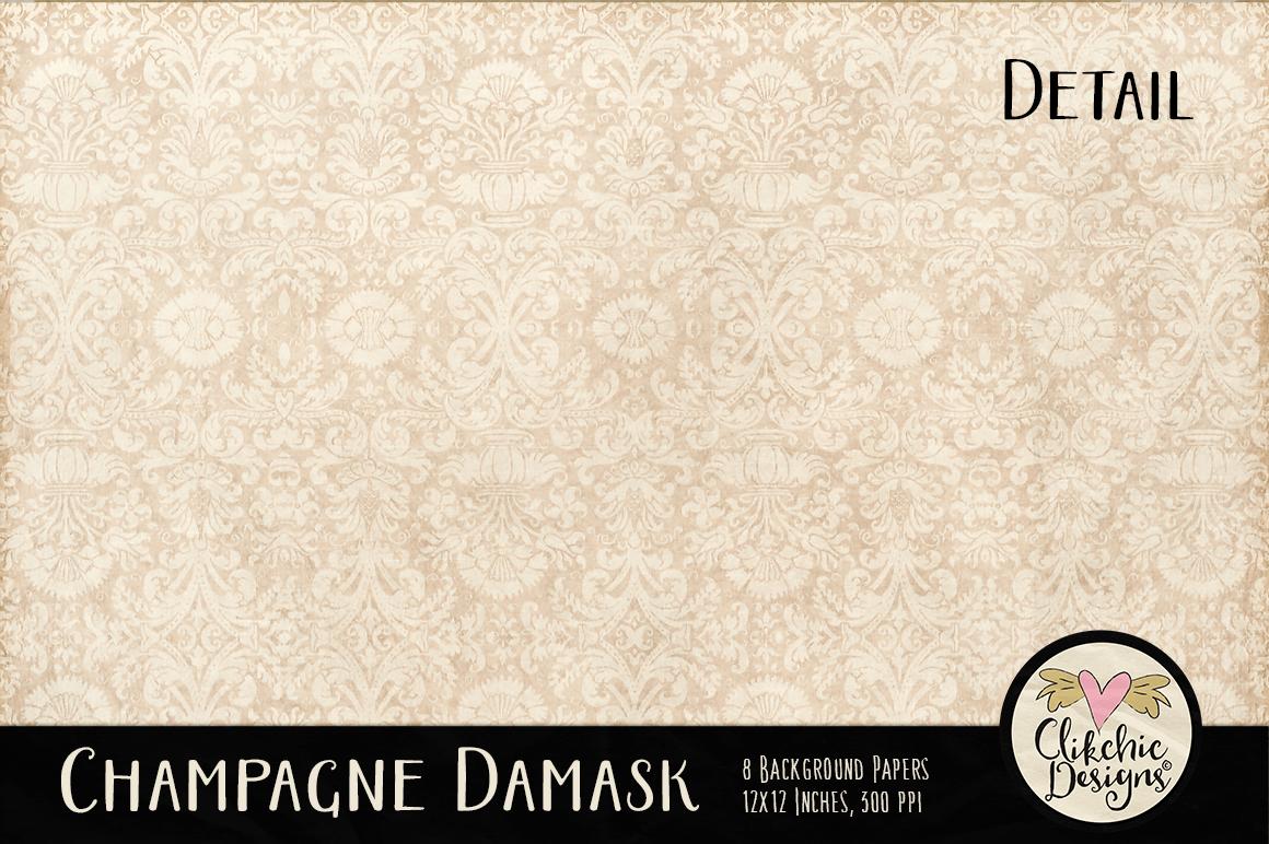 Champagne Wedding Damask Background Textures example image 4