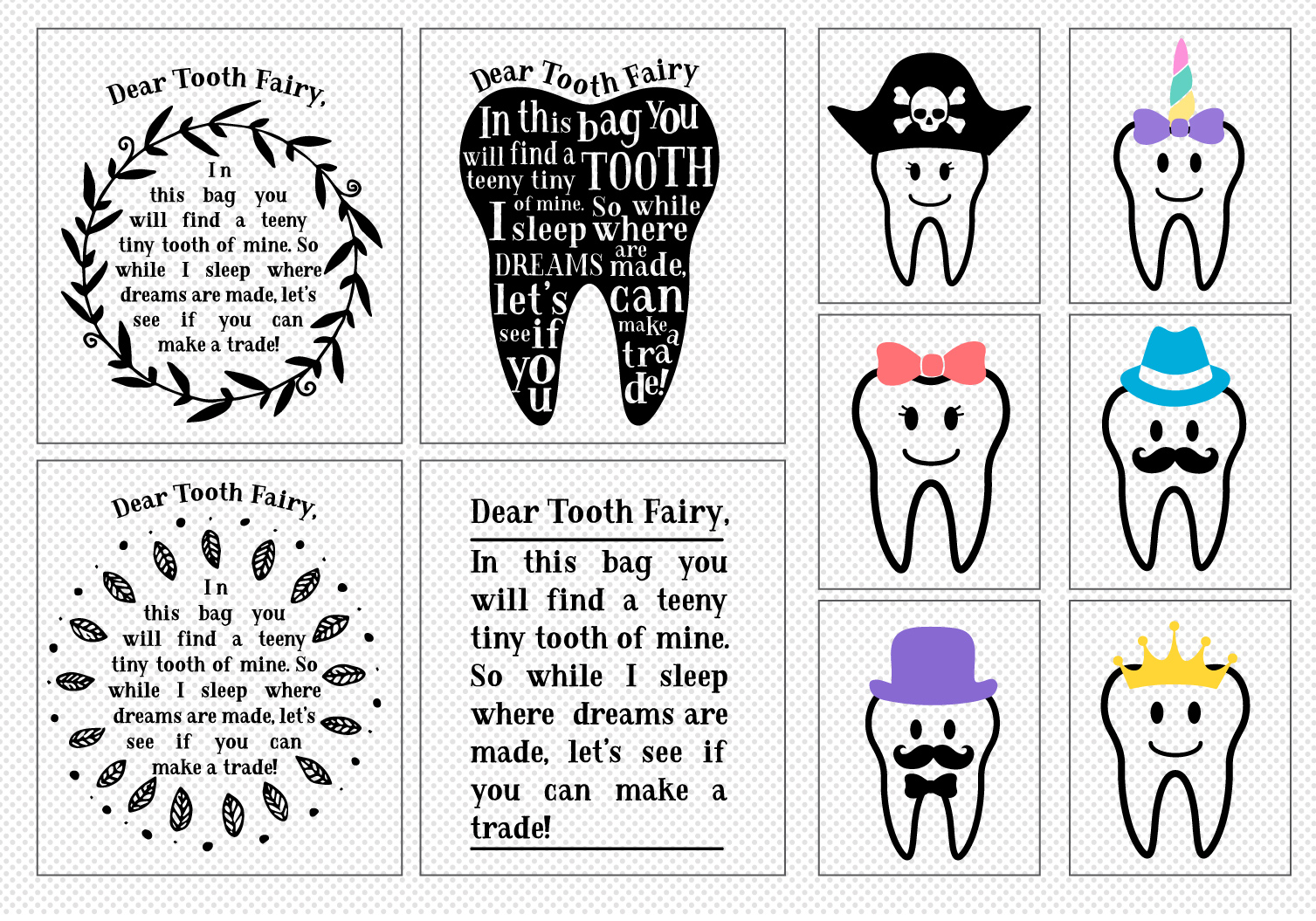Make Your Own!! Tooth Fairy Cut File Bundle example image 2