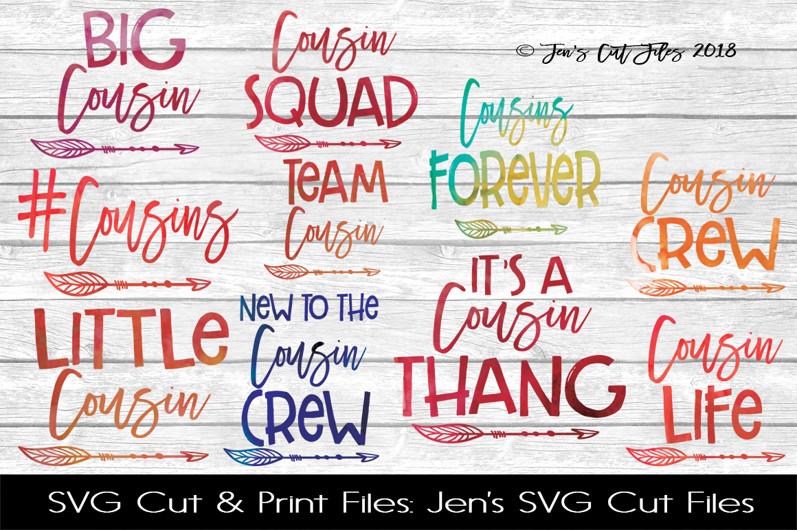 Cousins SVG Cut File BUNDLE example image 1