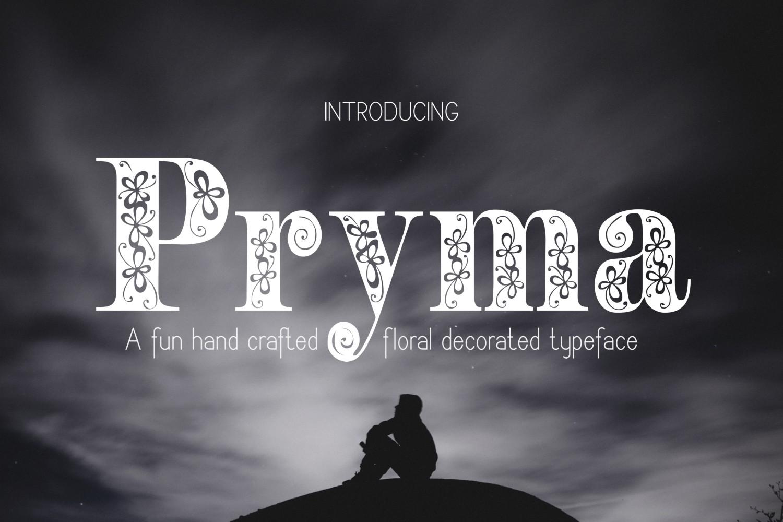 Pryma font example image 1