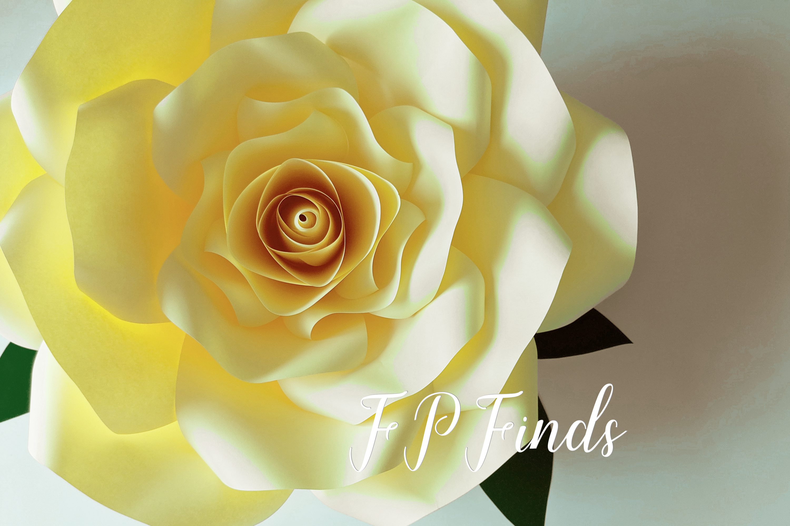 Giant Paper Rose Templates, Bundle of 4 example image 2