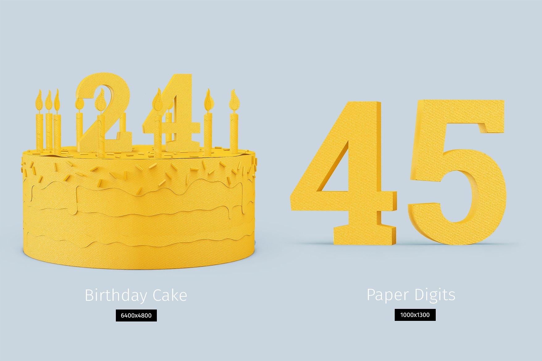 Papercraft Birthday Cake example image 2