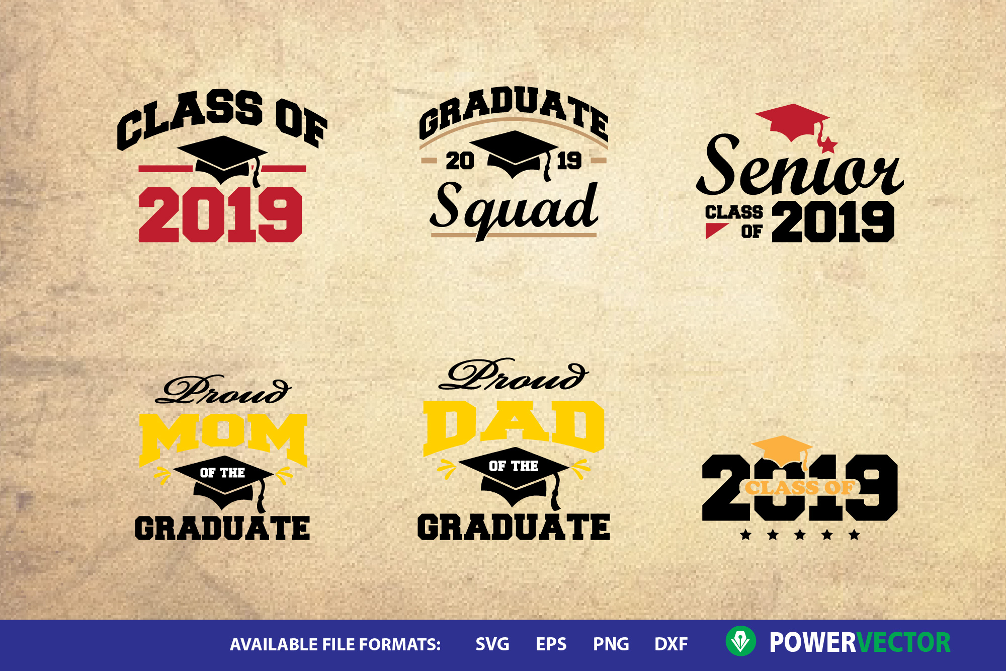 2019 Graduate   Graduating Class SVG Designs Mini Bundle example image 2