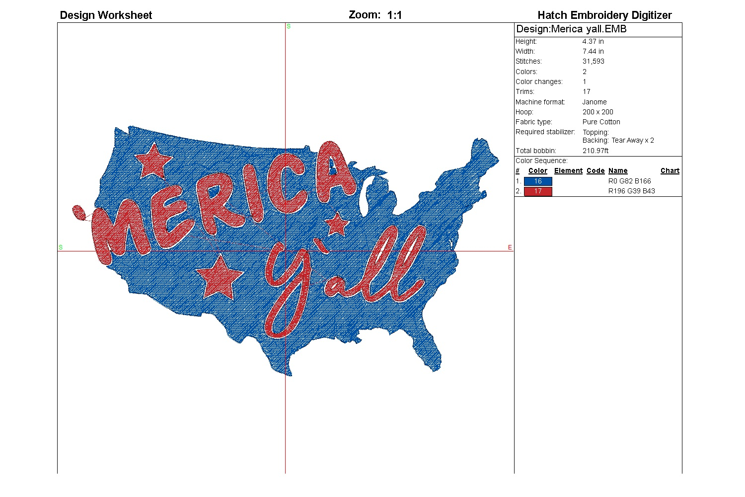 Merica yall| Independence day | Machine embroidery| example image 5