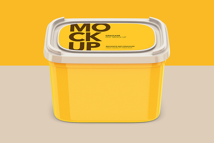 Plastic Container - Label - High Angle example image 1
