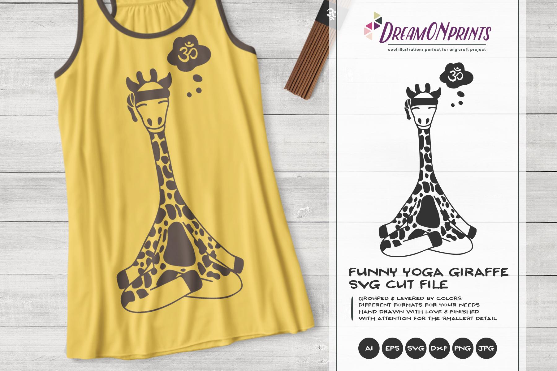 Yoga Giraffe SVG | Funny Giraffe SVG Vector example image 1