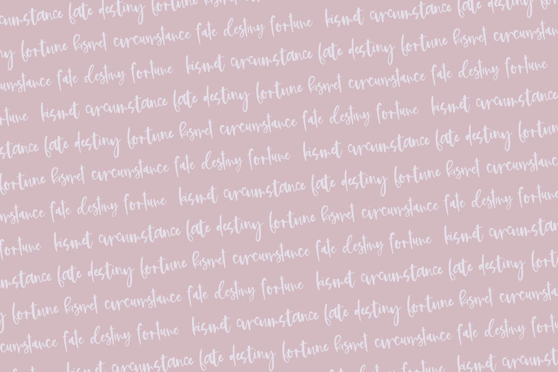 Kismet Handlettered Font example image 2
