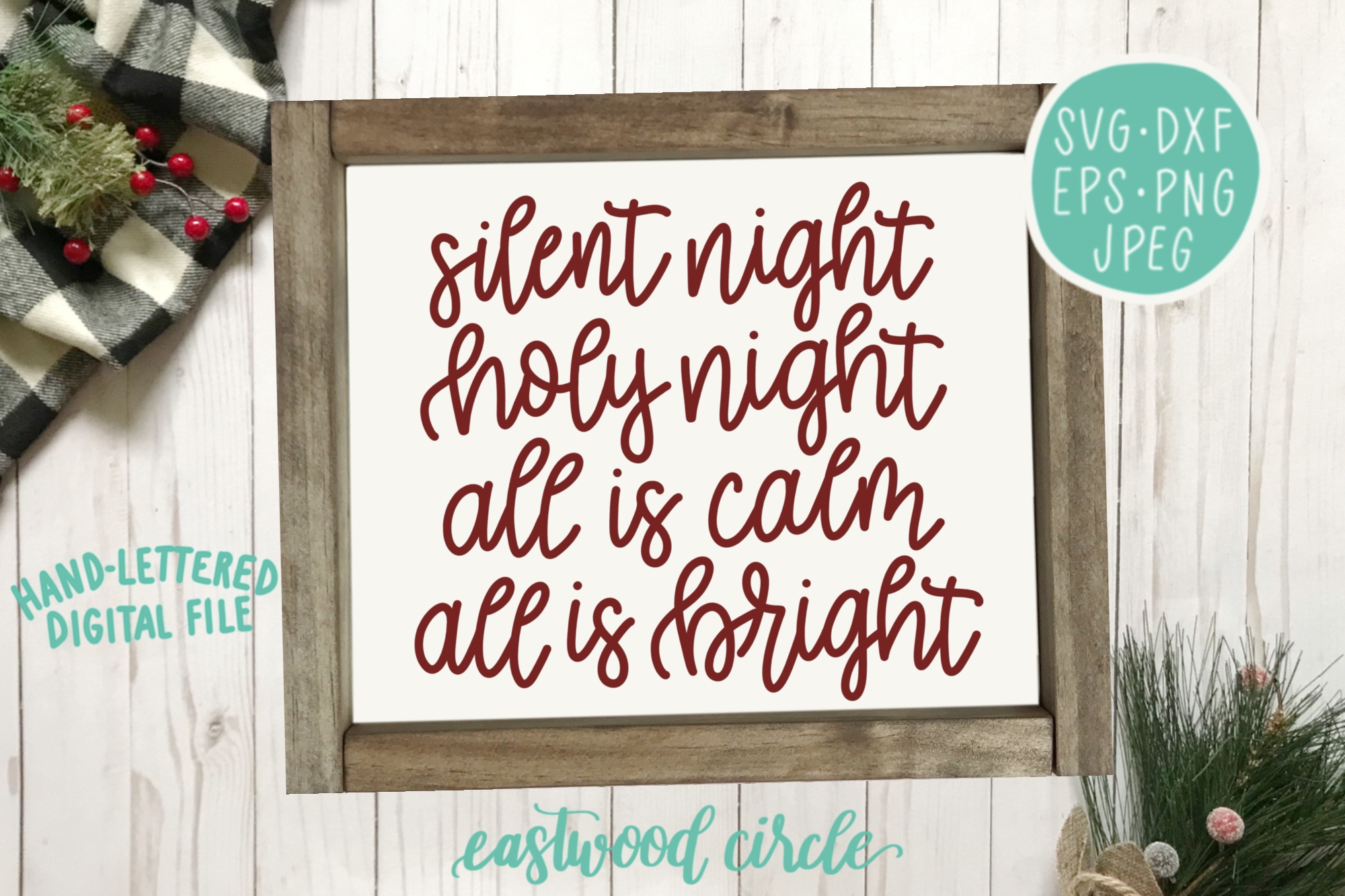 Christmas SVG Bundle - Hand Lettered Cut Files for Signs example image 2
