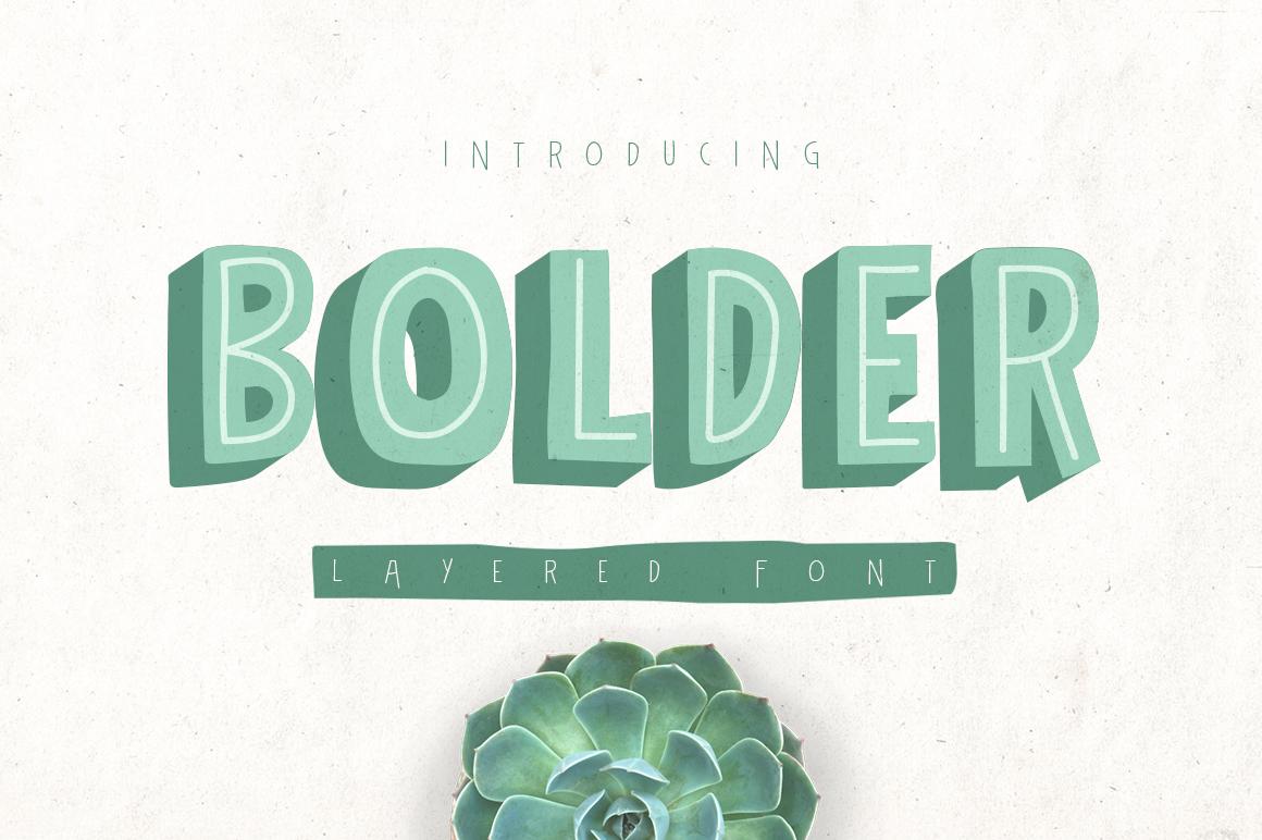 Bolder Typeface example image 1