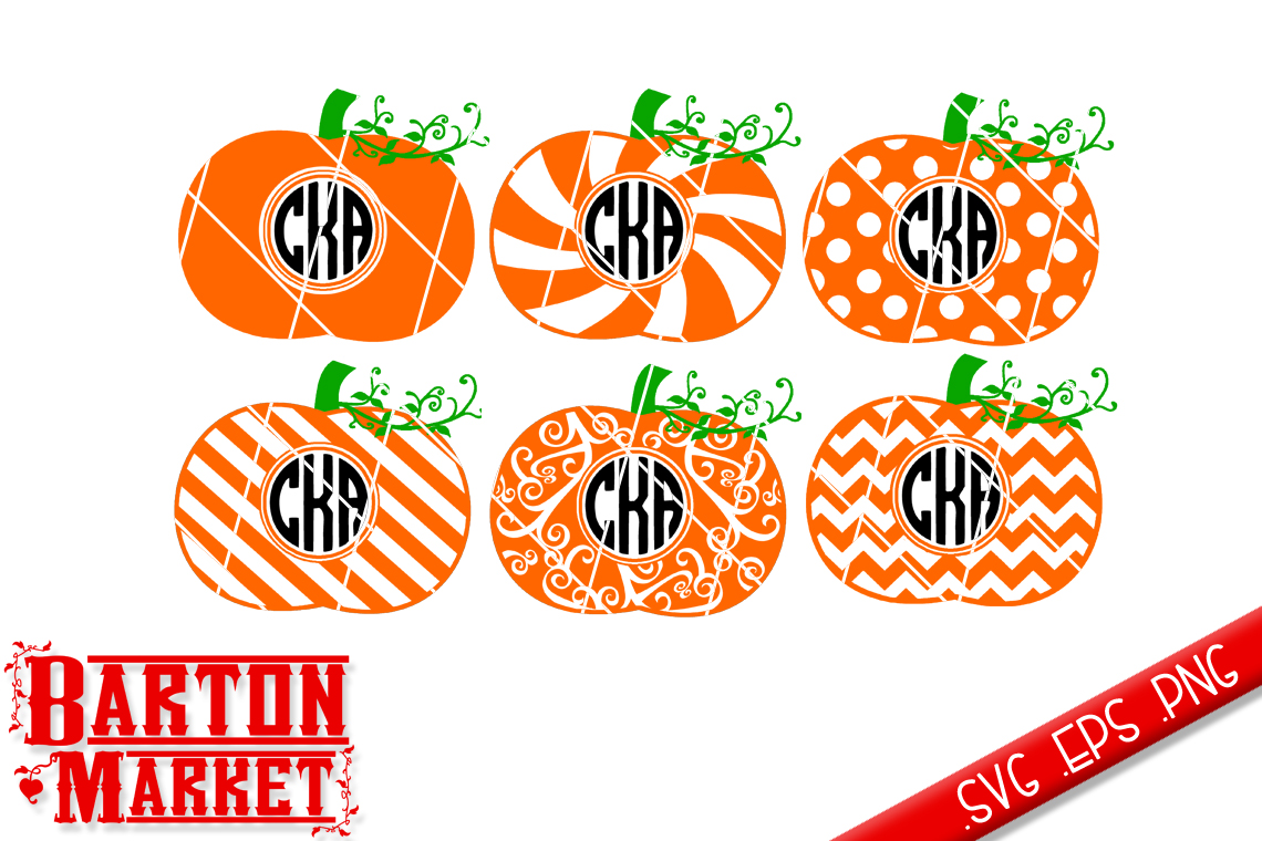 Pumpkin Monogram SVG / EPS / PNG example image 2