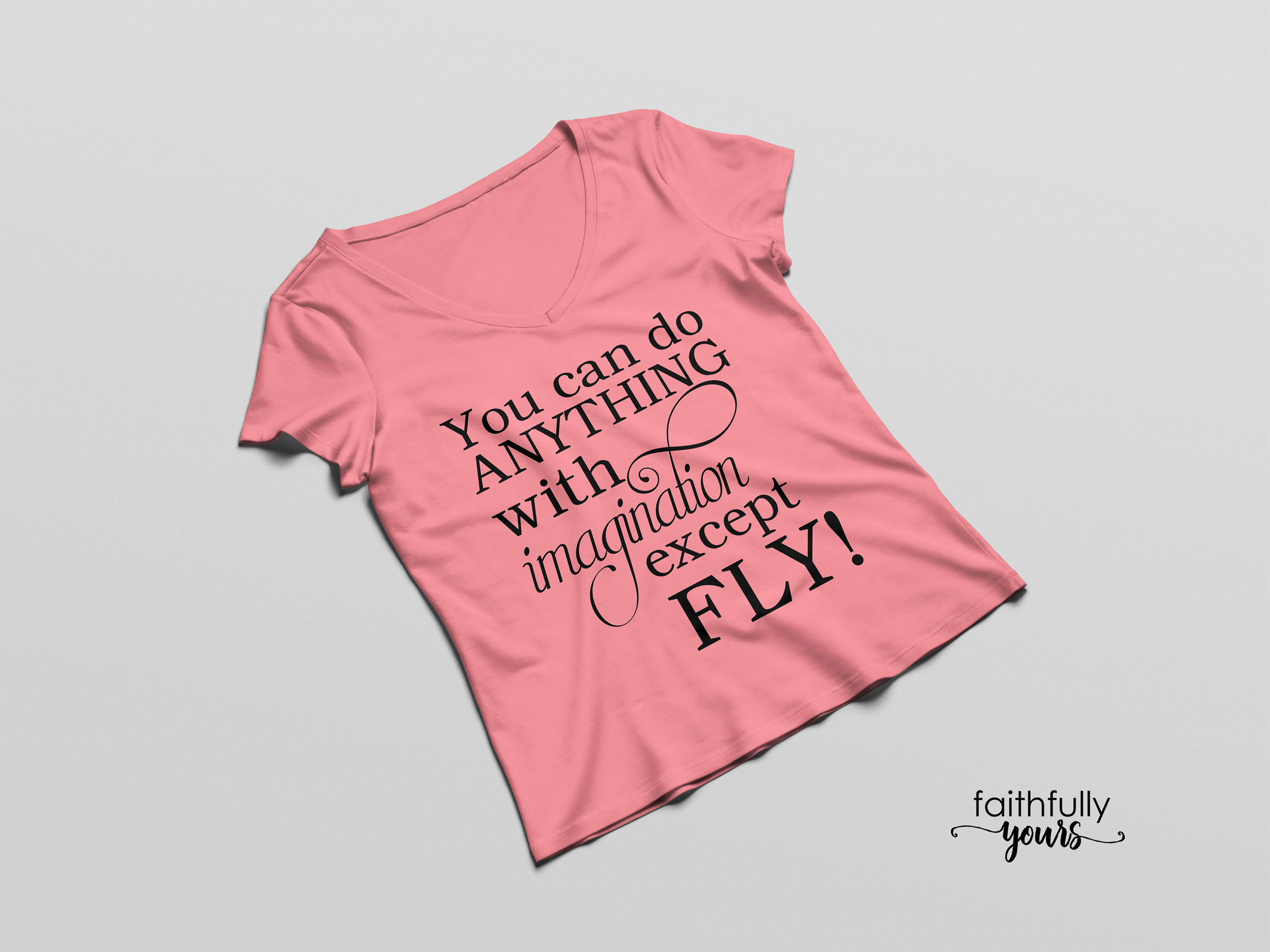 You can do anything with imagination except FLY! funny svg example image 4