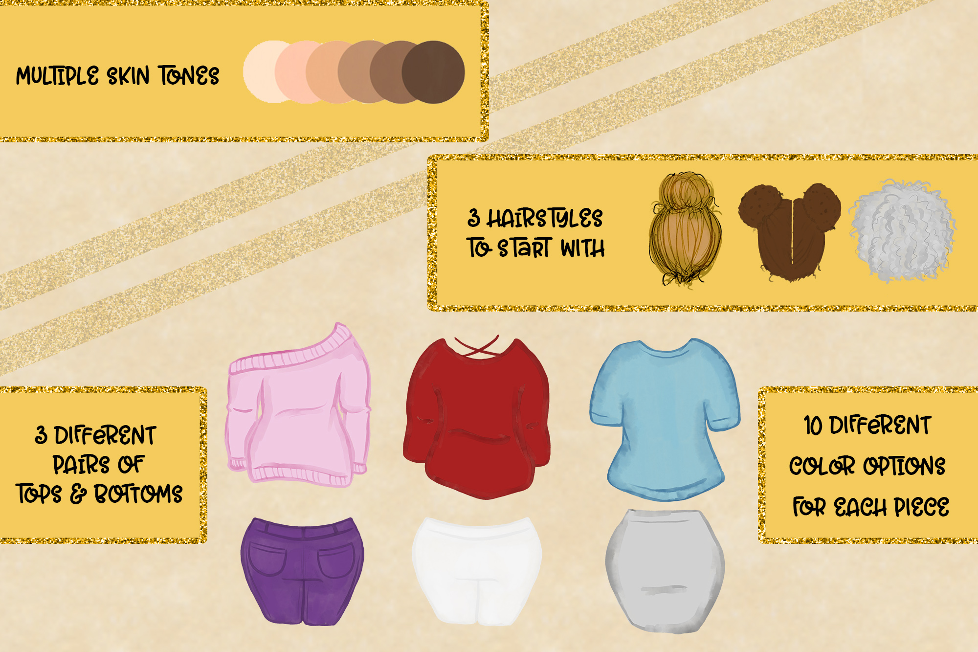 Curvy Build a Bestie| Expansion Pack for Build Bundles example image 2