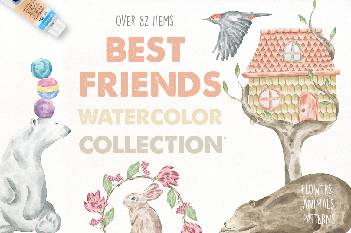Best Friends Watercolor Collection example image 1