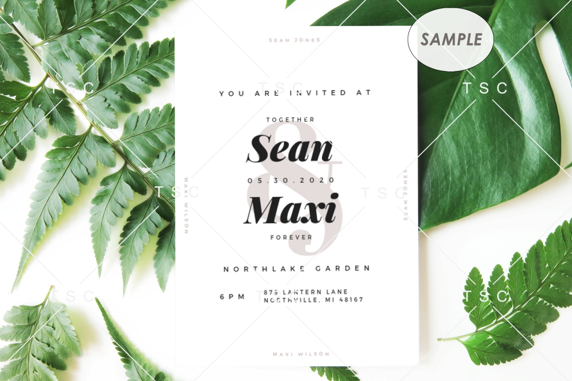 """5"""" x 7"""" Card Mockup / Invitation Card / Save the date Card example image 2"""