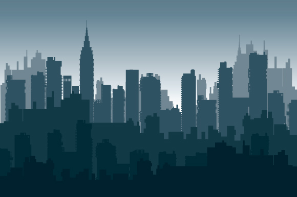 Set of city landscapes backgrounds  example image 2