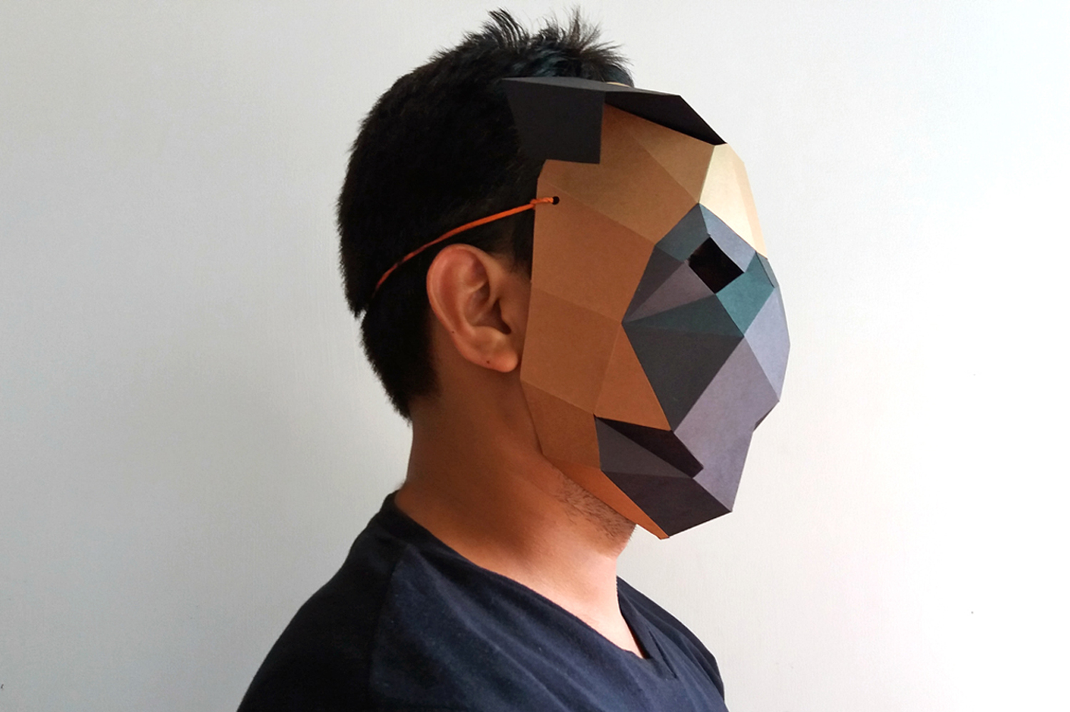 DIY Pug mask - 3d papercrafts example image 2