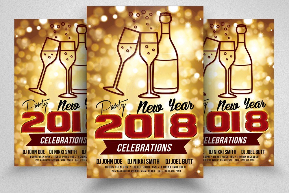 New Year Event Flyer Temp example image 1
