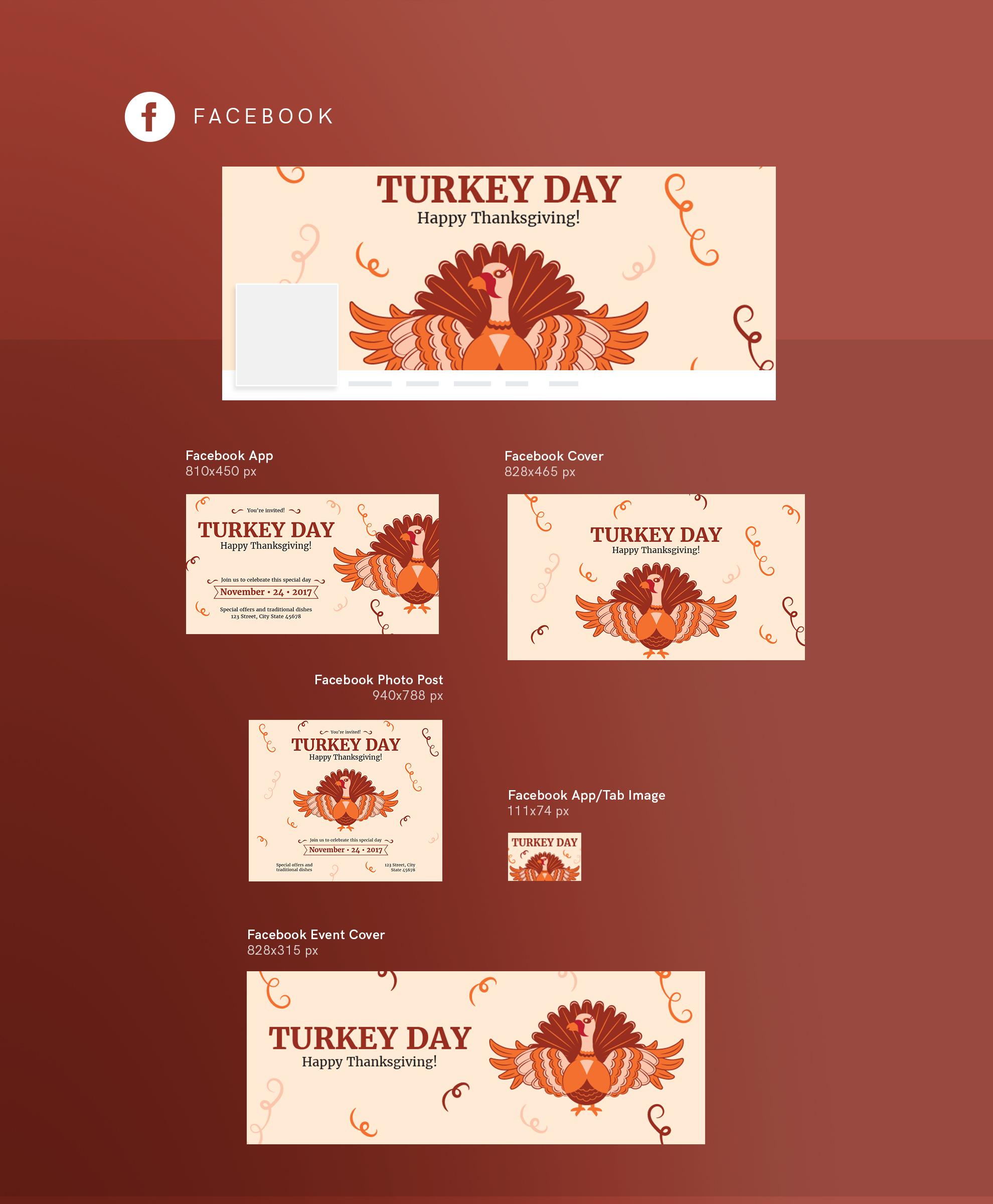 Thanksgiving Celebration Design Templates Bundle example image 9