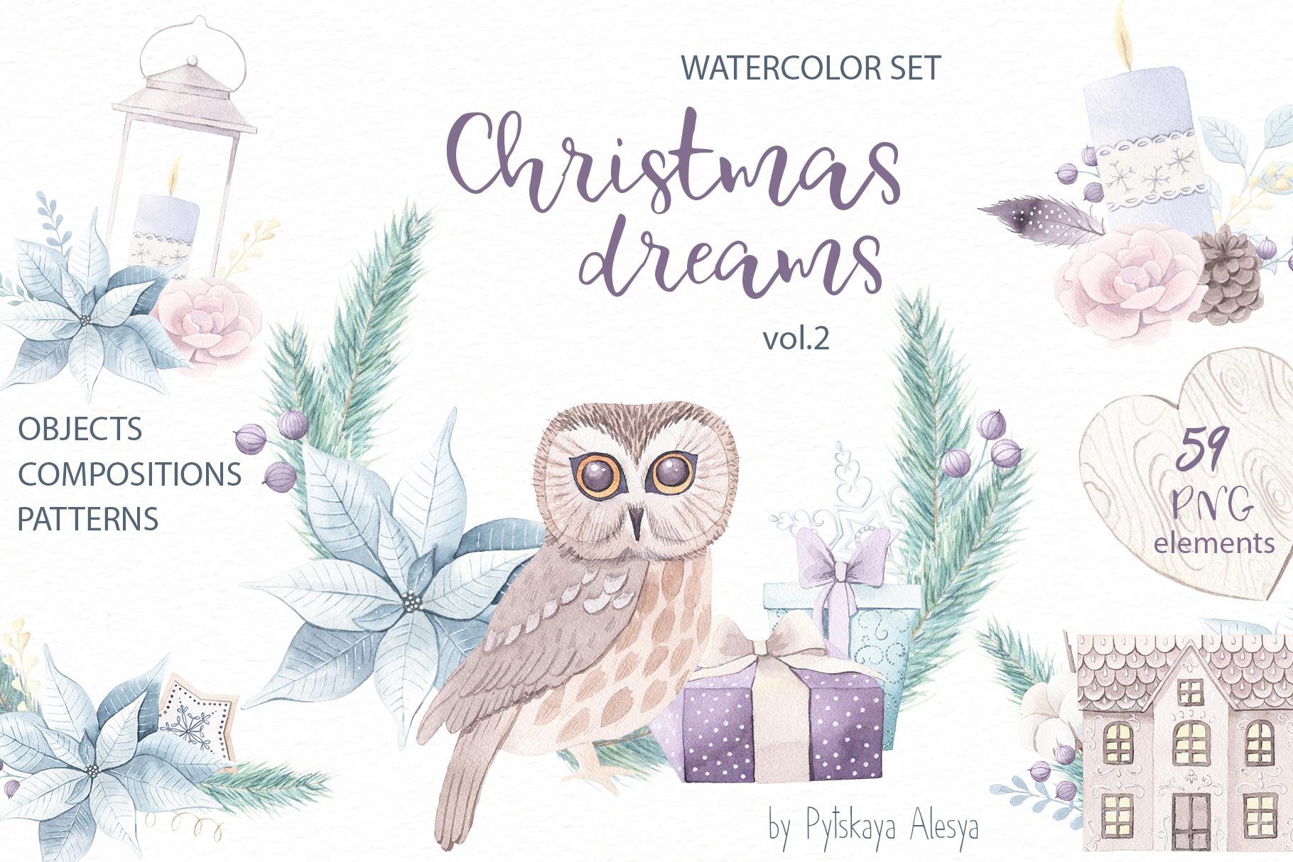 Christmas Dreams vol.2 - Watercolor Set example image 1