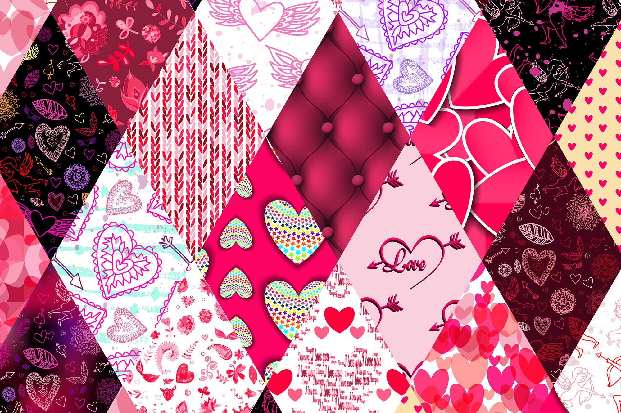 Happy Valentine's Day Set. example image 3