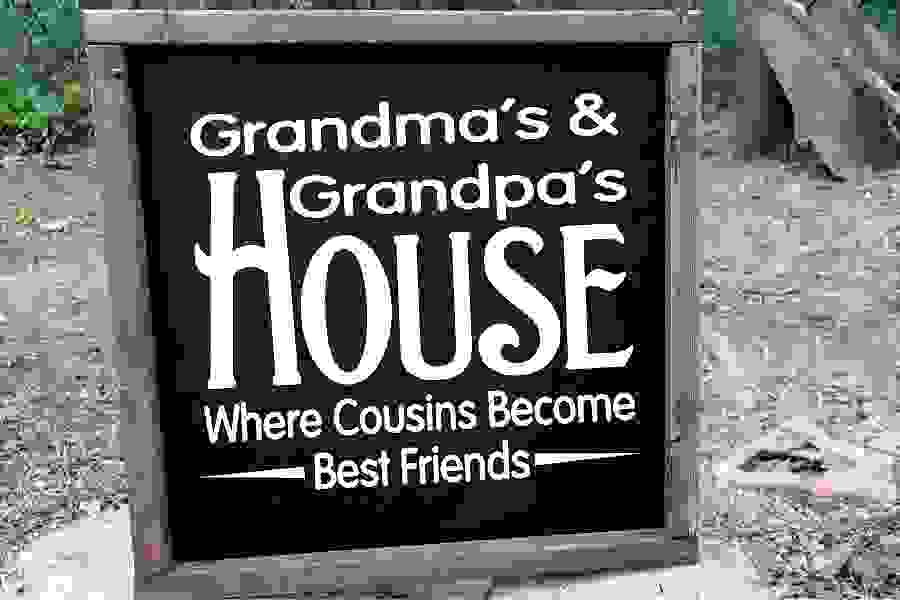 Grandma & Grandpa's House Cousin Become Best Friends SVG example image 1