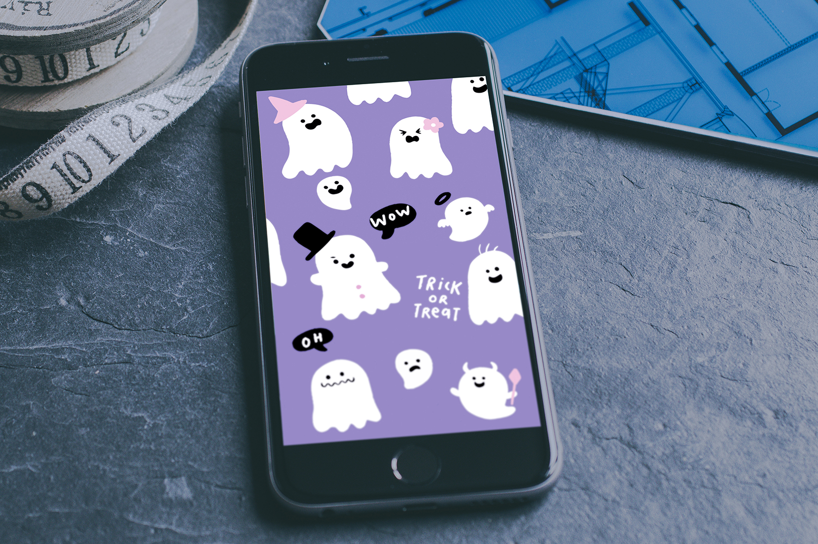 Cute Halloween Ghosts Illustrations example image 2