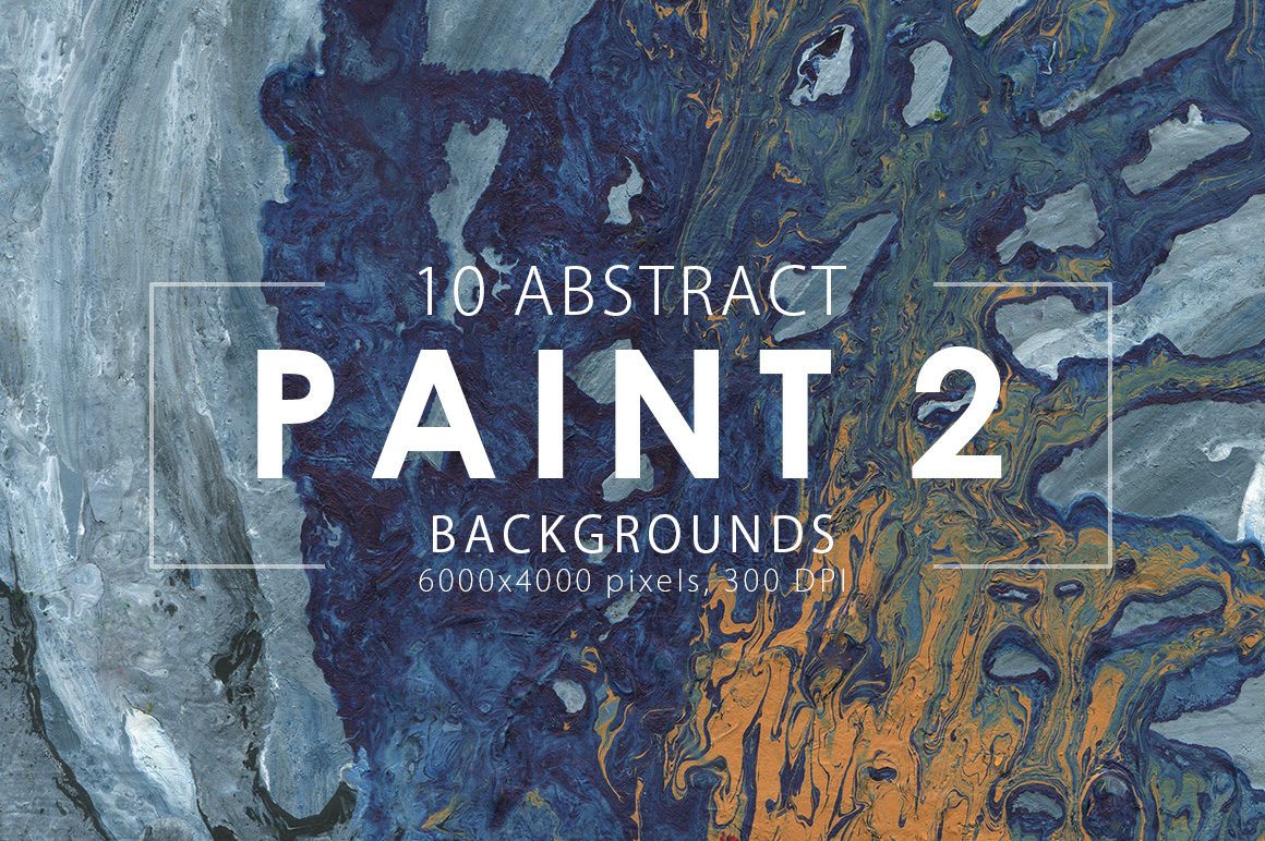Abstract Paint Backgrounds Vol.2 example image 2