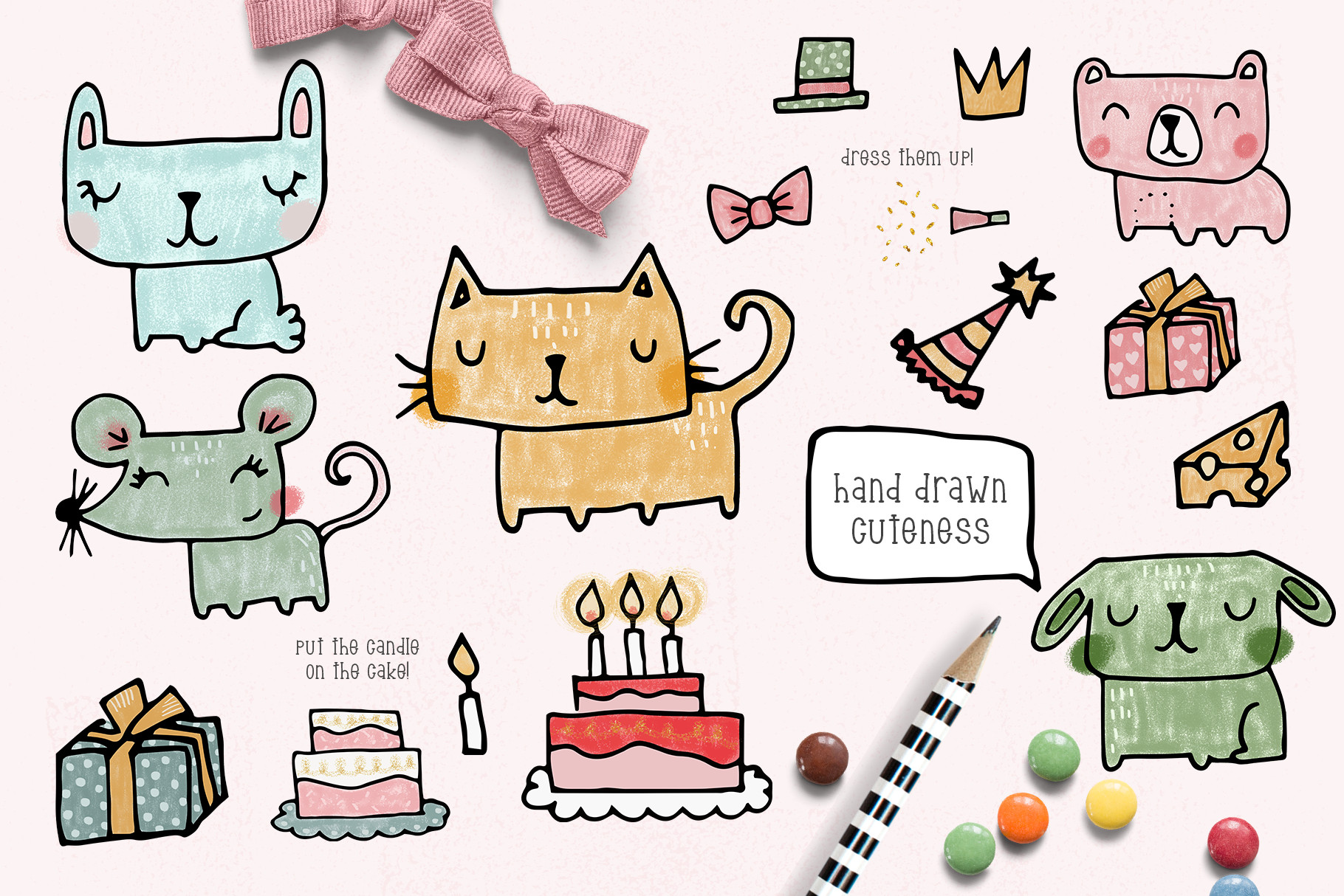 Whimsical birthday clipart collection example image 2