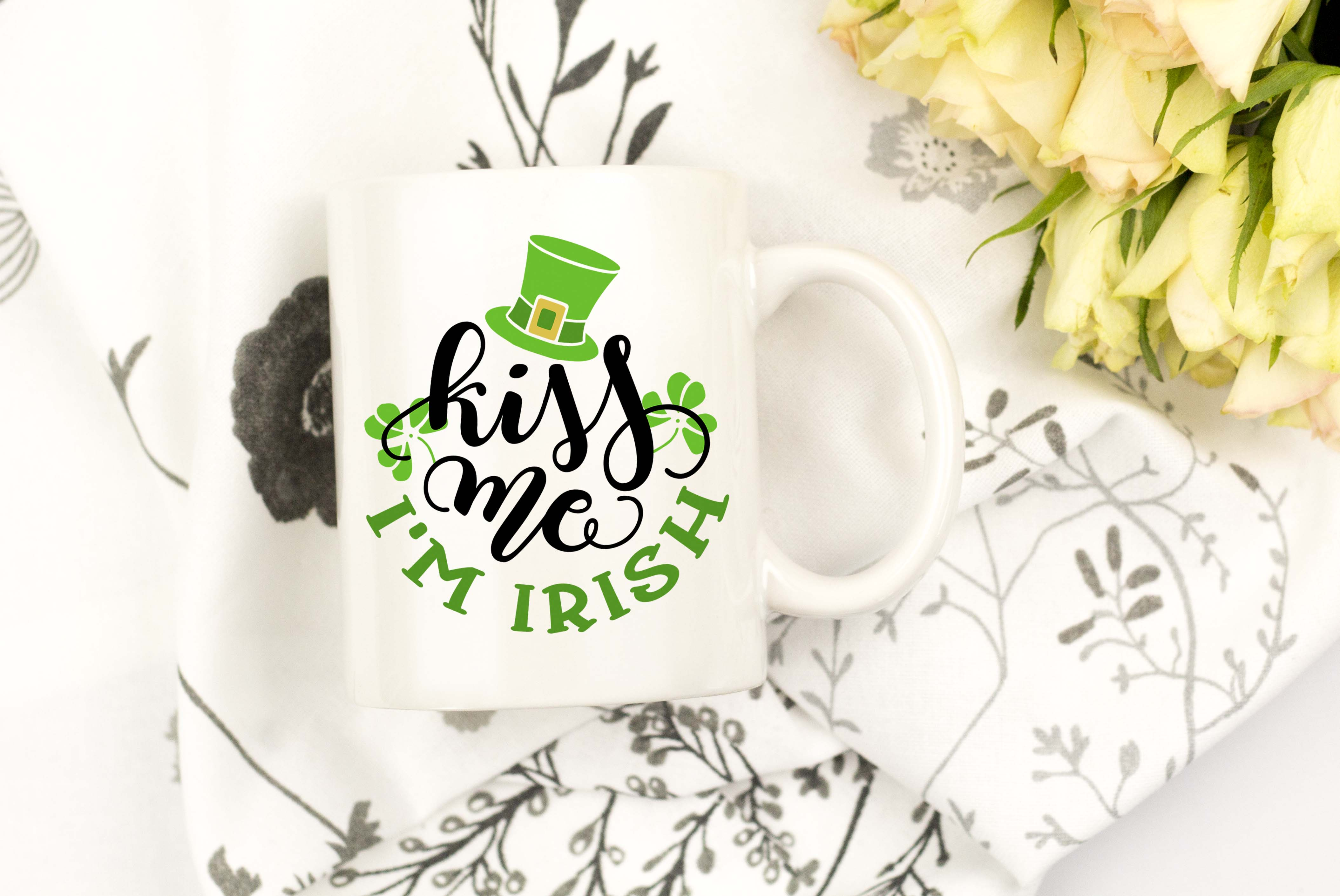Kiss me I'm Irish SVG DXF PNG EPS example image 4