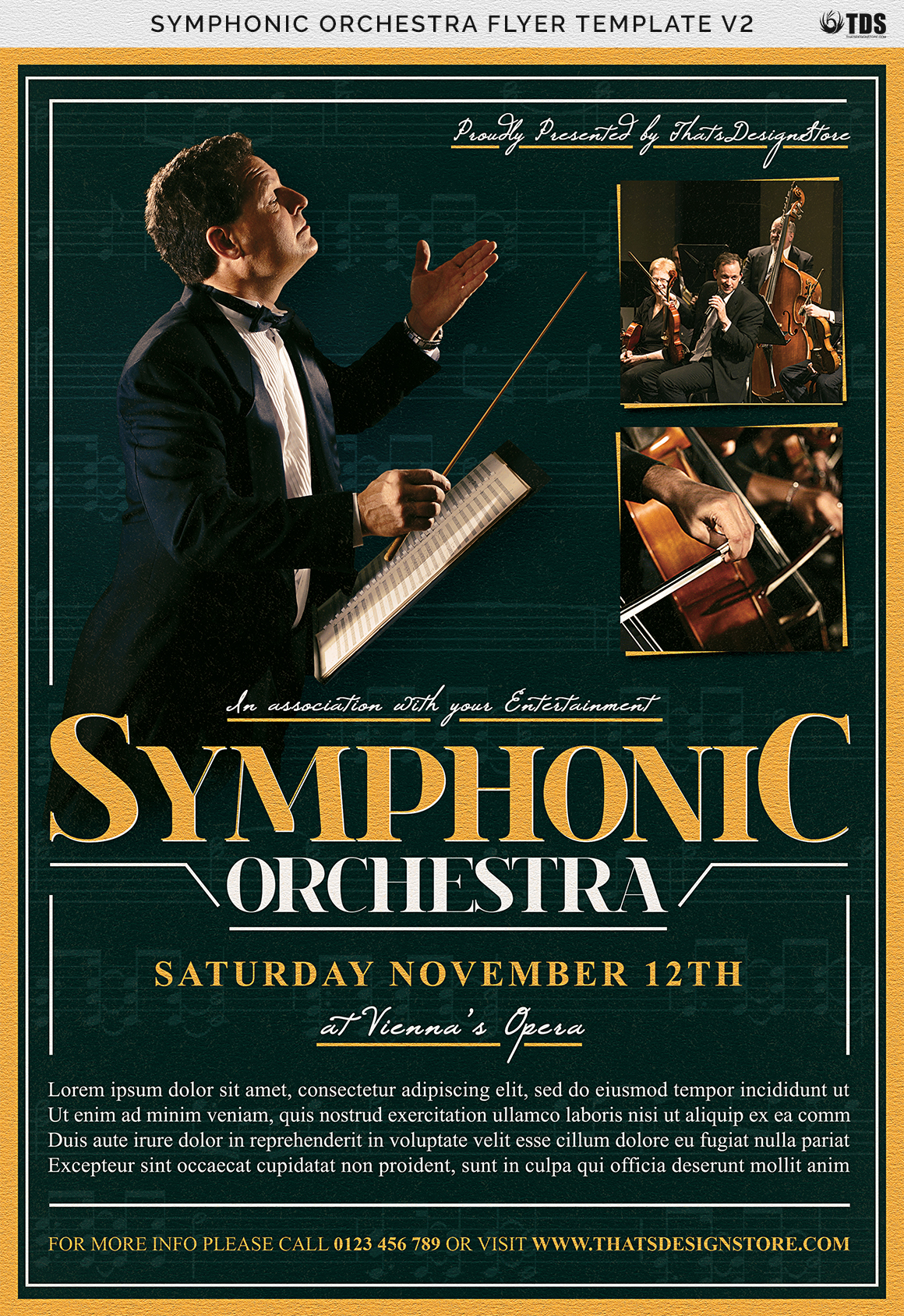 Symphonic Orchestra Flyer Template V2 example image 7