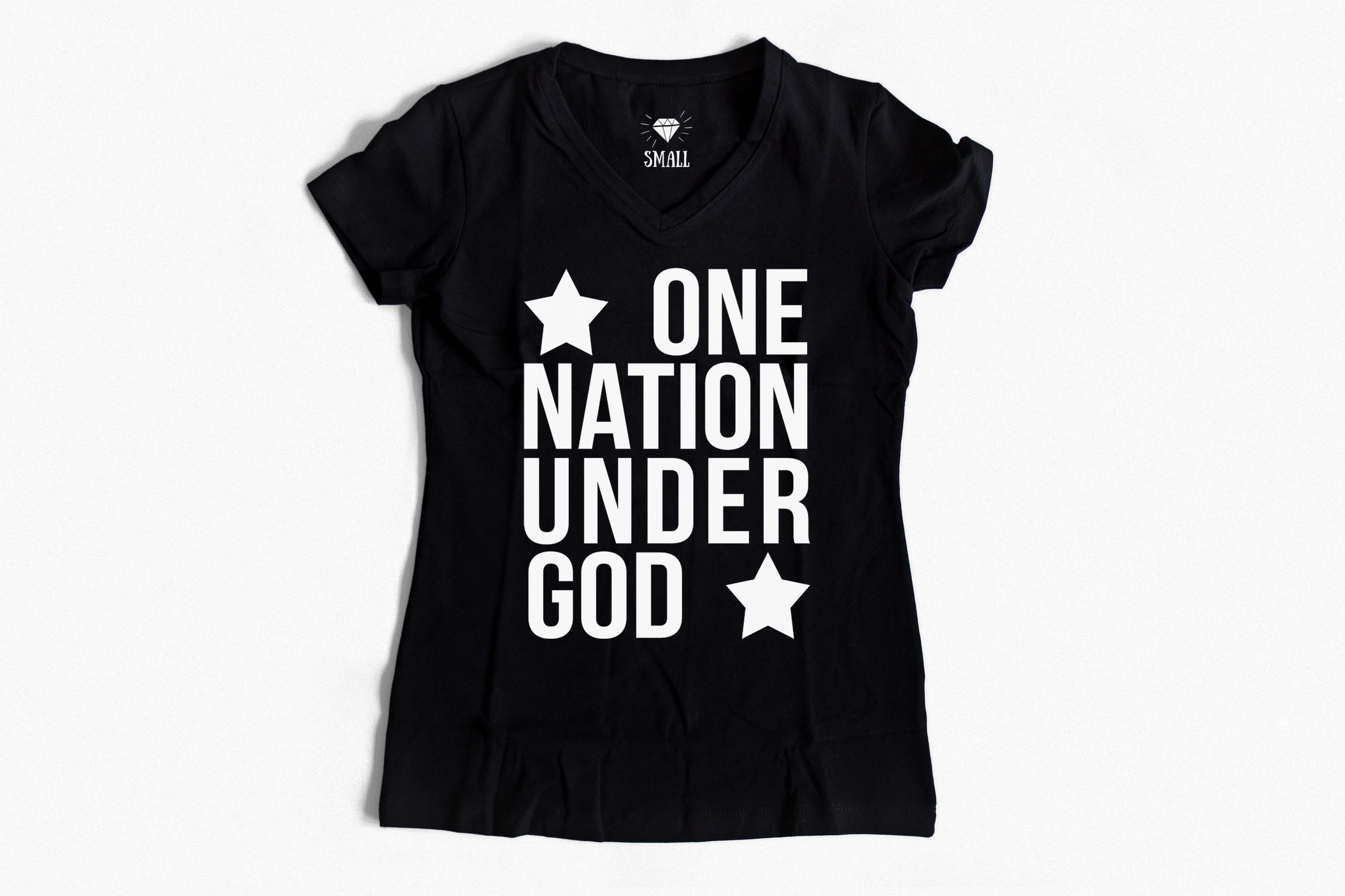 One nation under God SVG PNG EPS DXF 4th of July svg Patriotic svg file example image 2