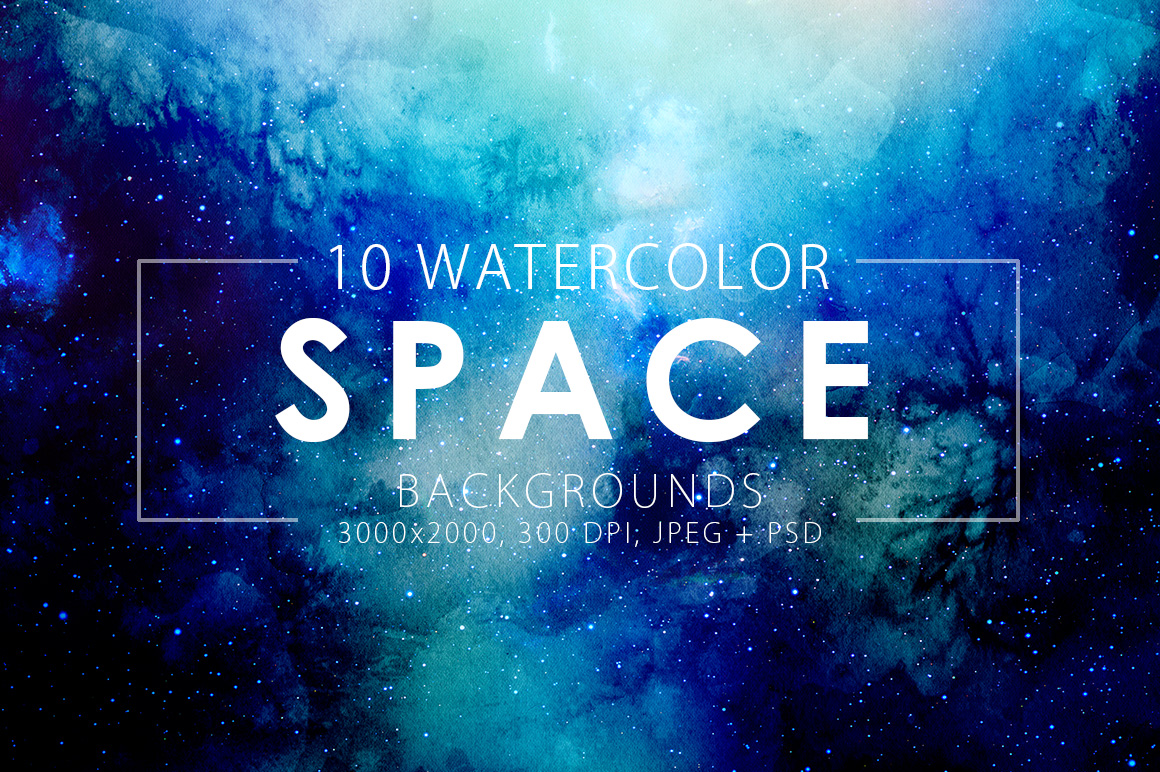 Only Watercolor Backgrounds Bundle example image 18