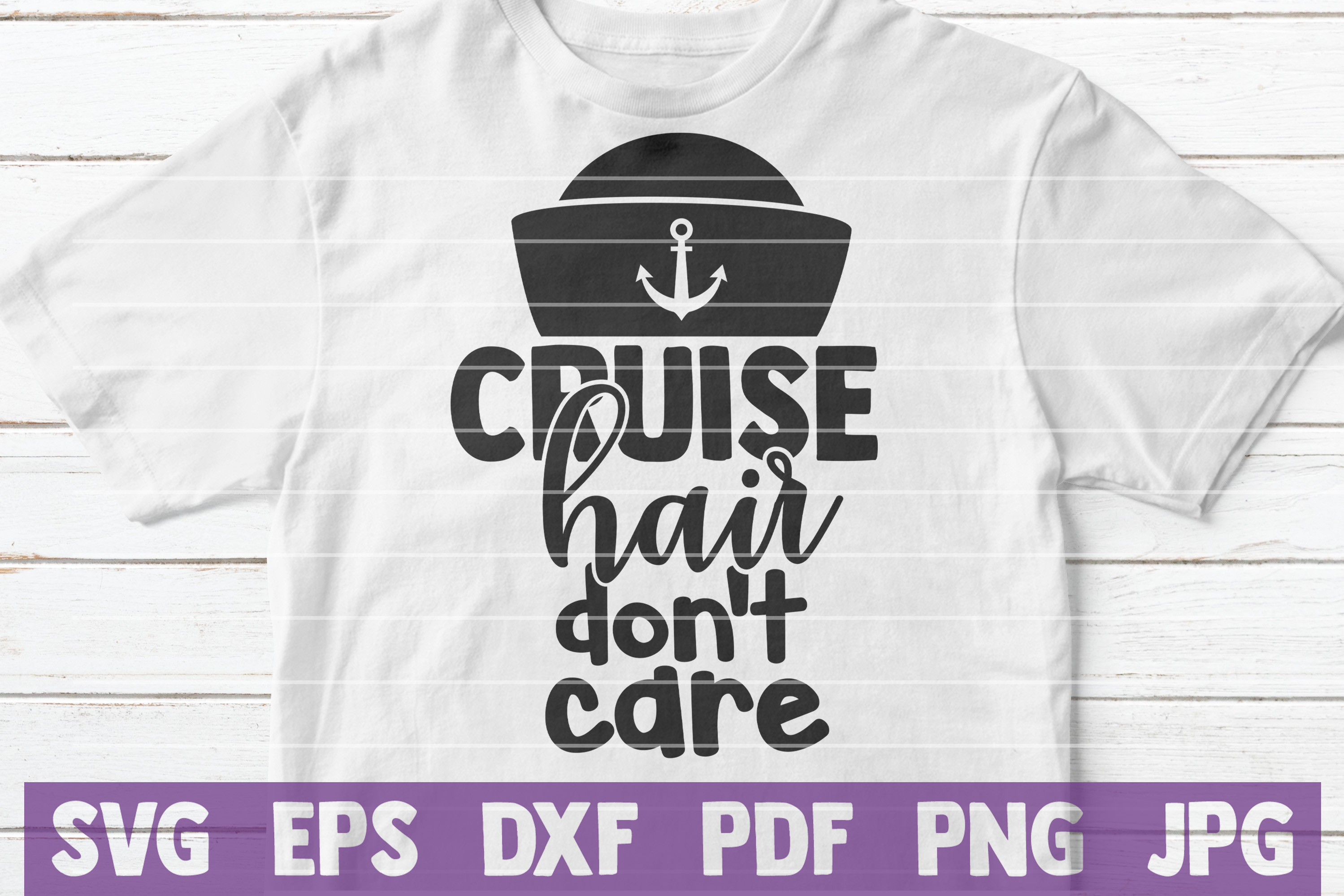 Cruise Hair Don't Care SVG cut file example image 1