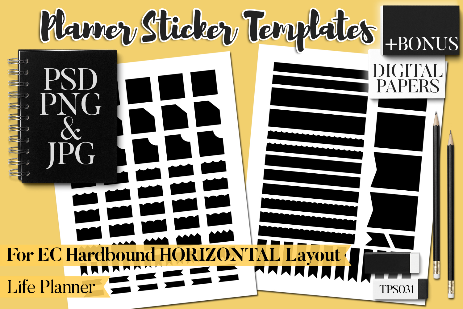 Planner Stickers Templates - Bundle Vol. 11 example image 3