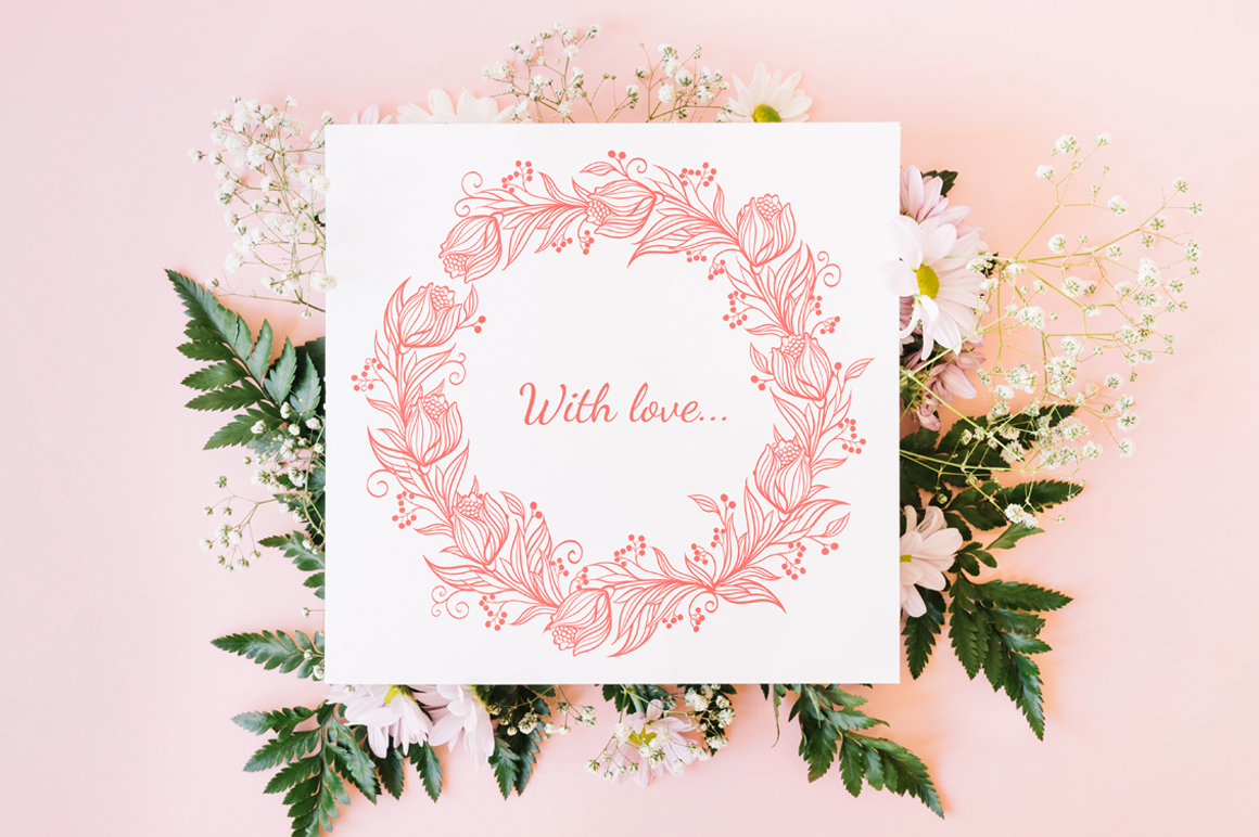 Vector Floral, patterns & hearts example image 4