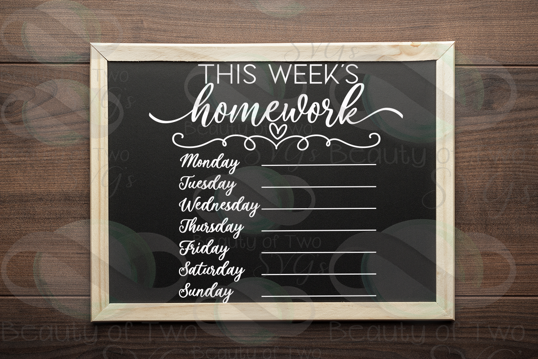 This week's organization svg Bundle, Menu svg, chores svg example image 6