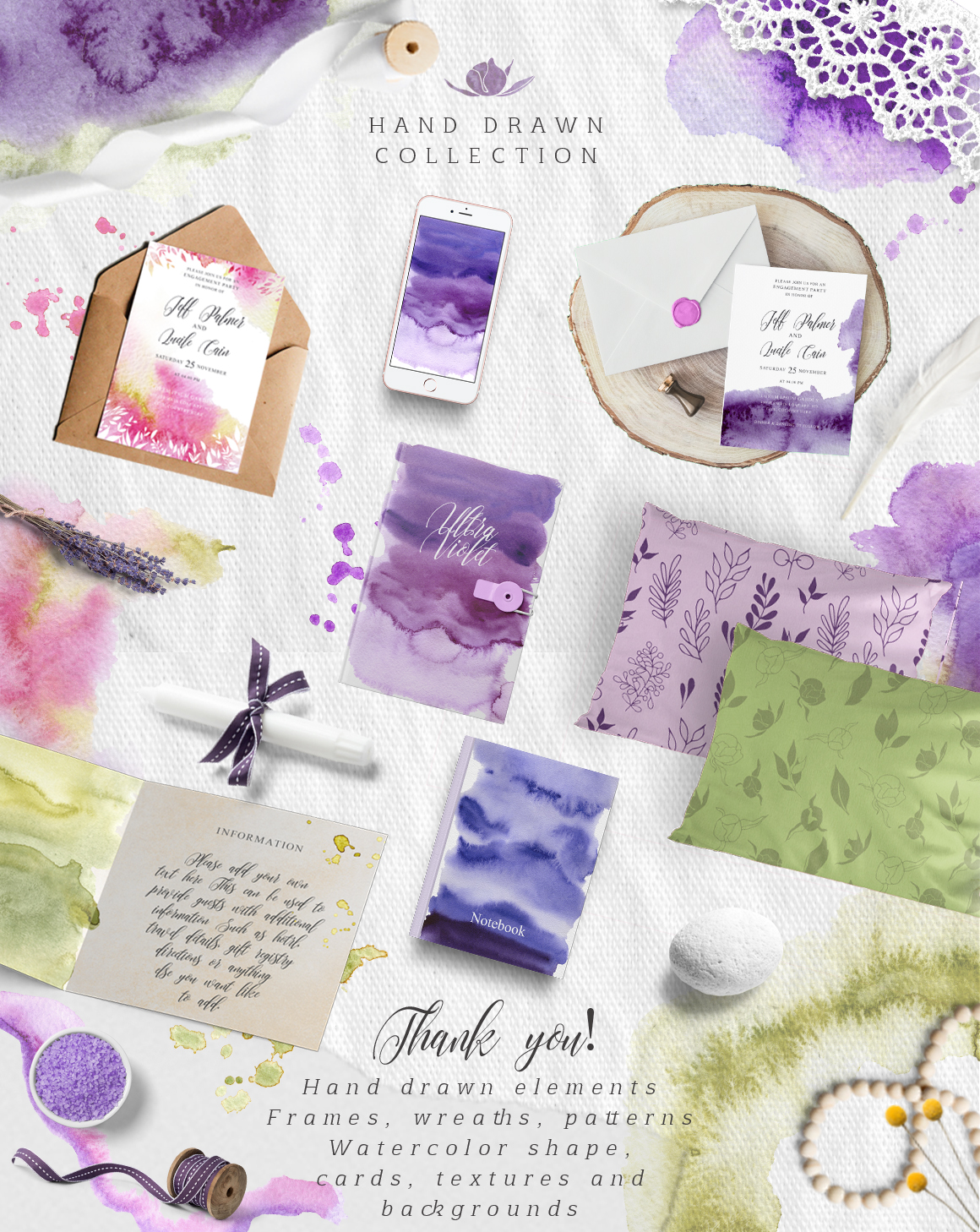Ultra Violet watercolor collection example image 11