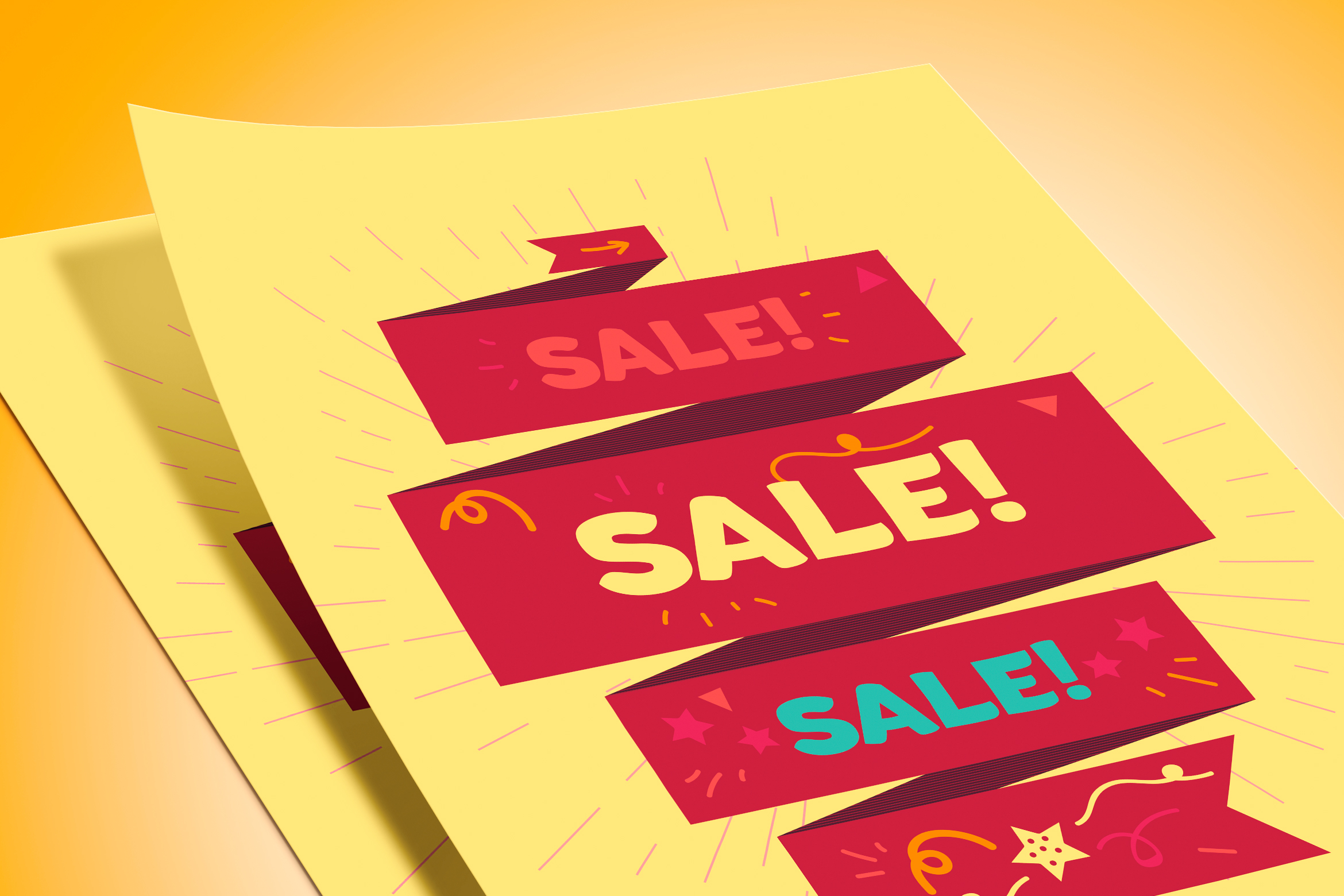 Vector Sale Ribbon example image 2