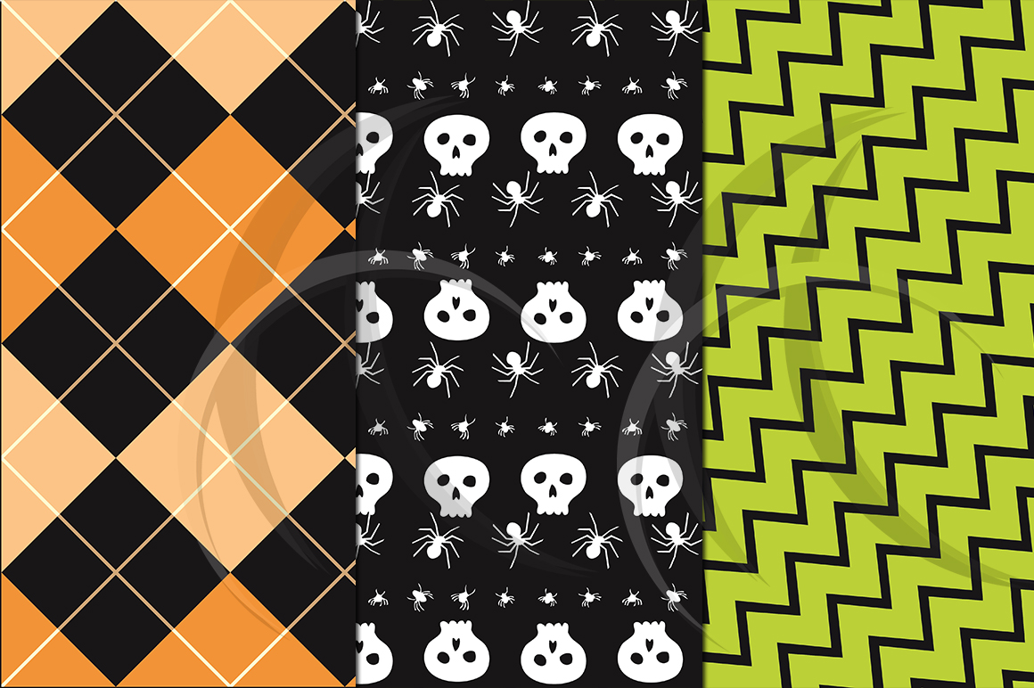 halloween digital paper / halloween clipart / high quality digital paper / 300 dpi in 2 different size / halloween patterns / JPG example image 3