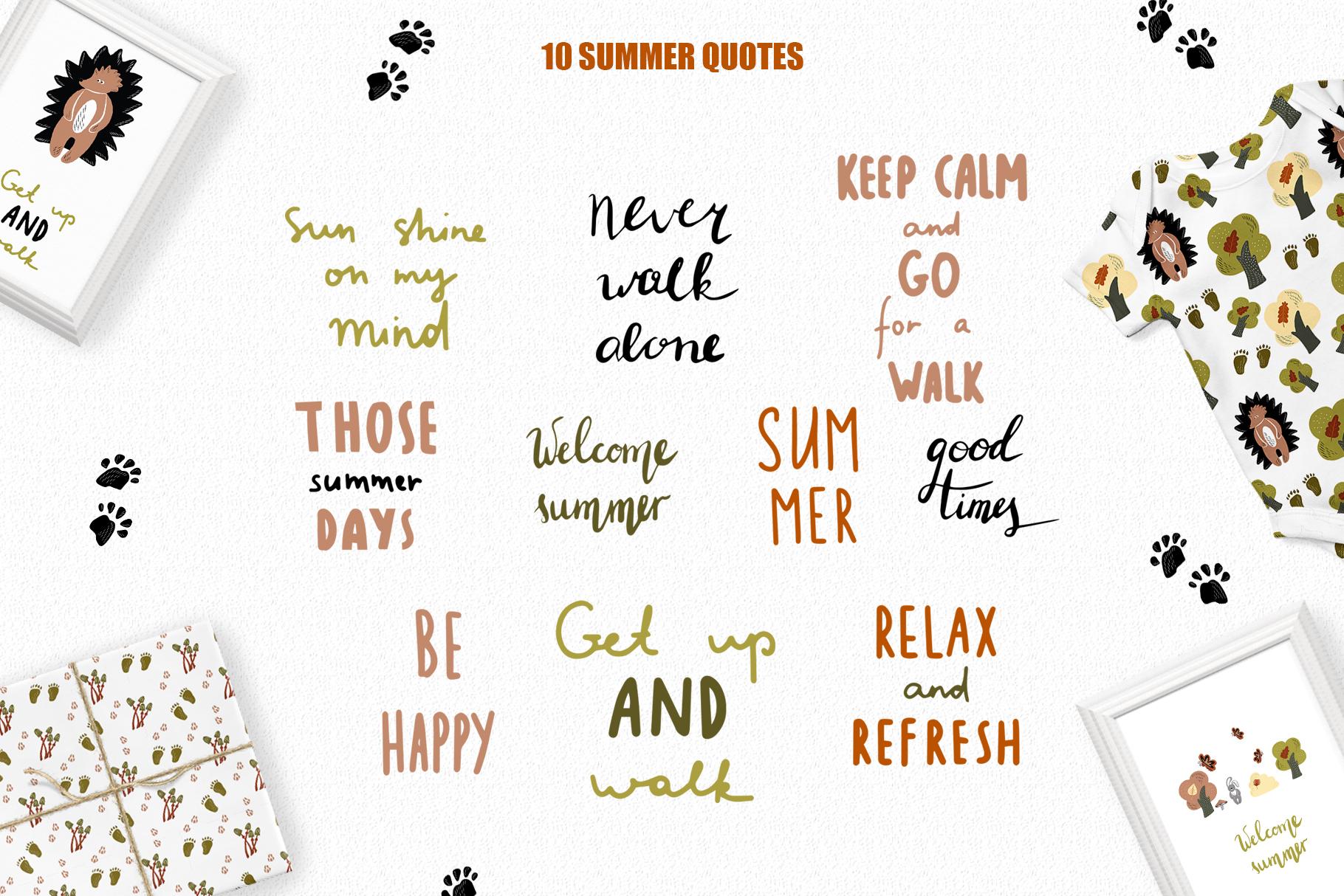 Summer Walk Kids vector clipart, vector baby nursery clipart example image 4