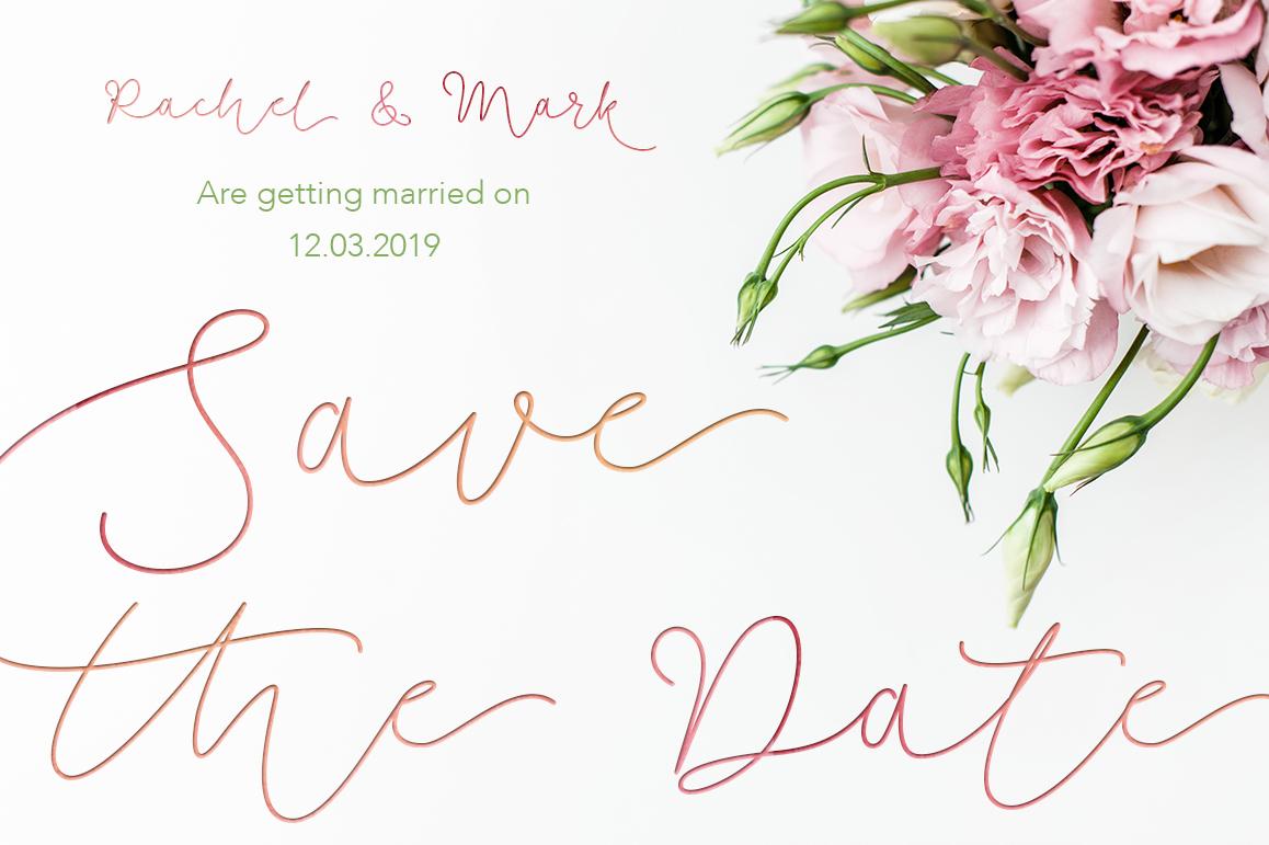 Soft Whisperings wedding font example image 7