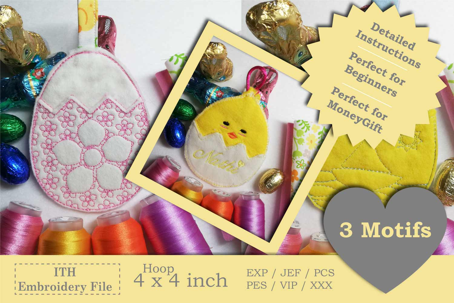 ITH Easter Bundle - Machine Embroidery Files - 10 Projects example image 14